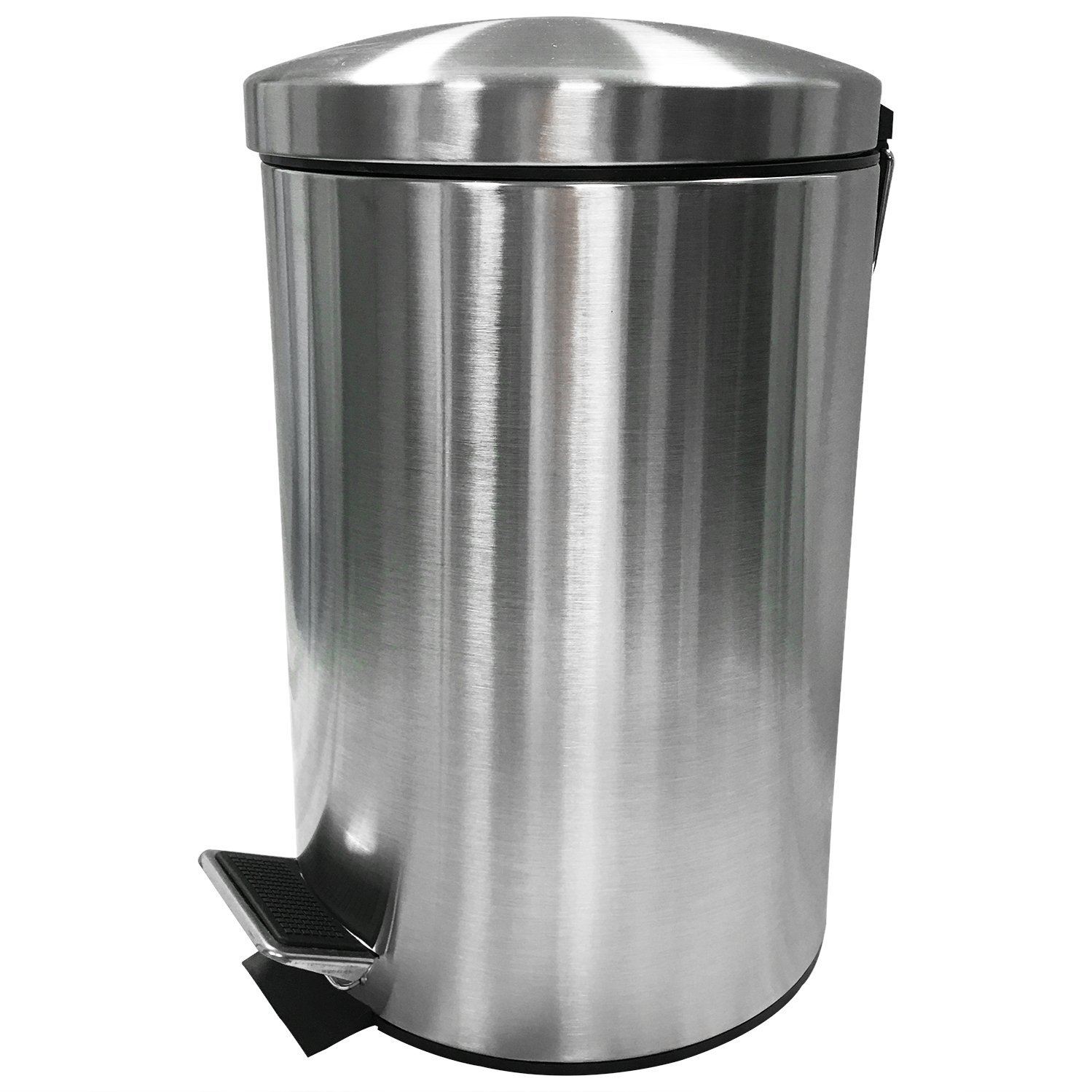 Details zu Mülleimer Abfalleimer Treteimer Müllsammler Badeimer Edelstahl  Küche #463