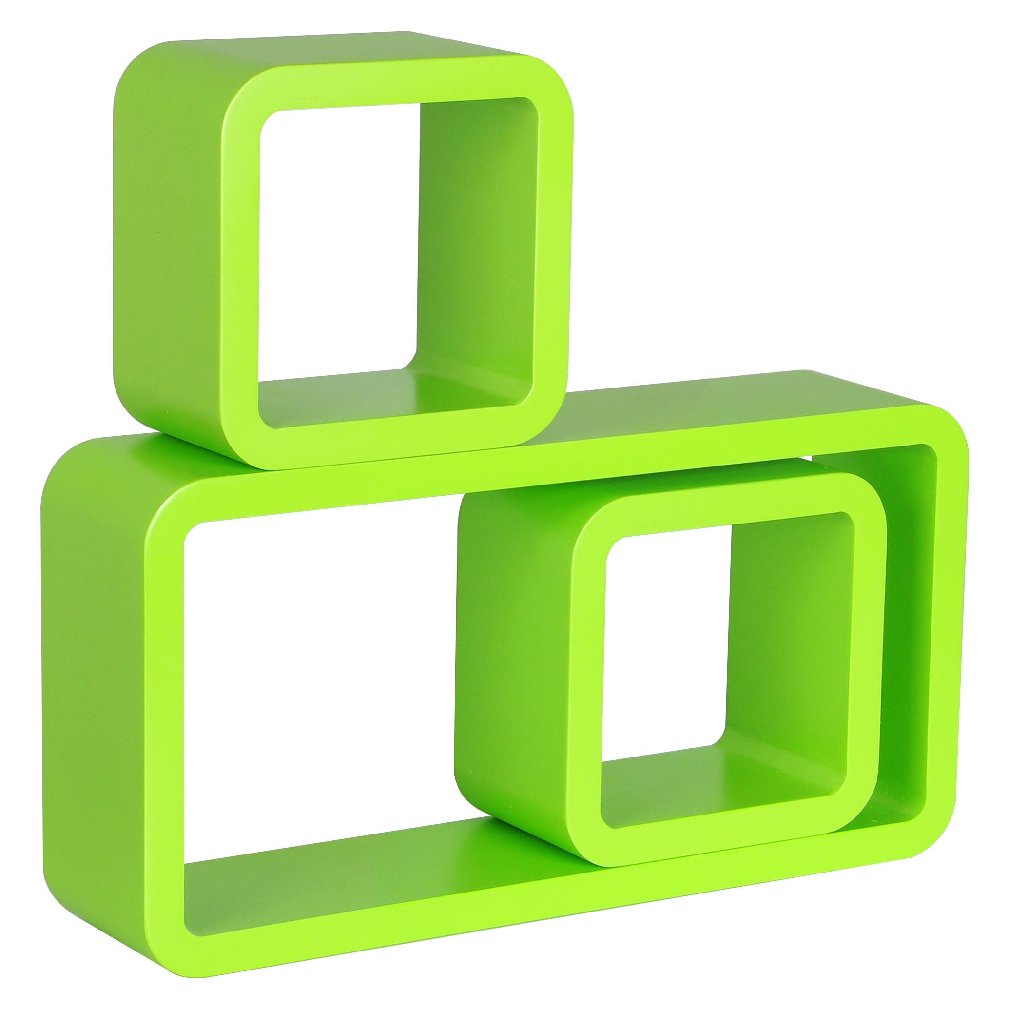 wandregal 3er set regal holzregal b cheregal h ngeregal. Black Bedroom Furniture Sets. Home Design Ideas