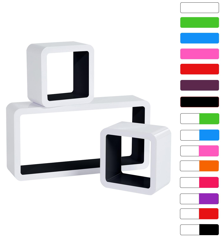 Lot-de-3-etageres-murales-flottantes-MDF-etagere-CD-DVD-murale-10-couleurs-f056