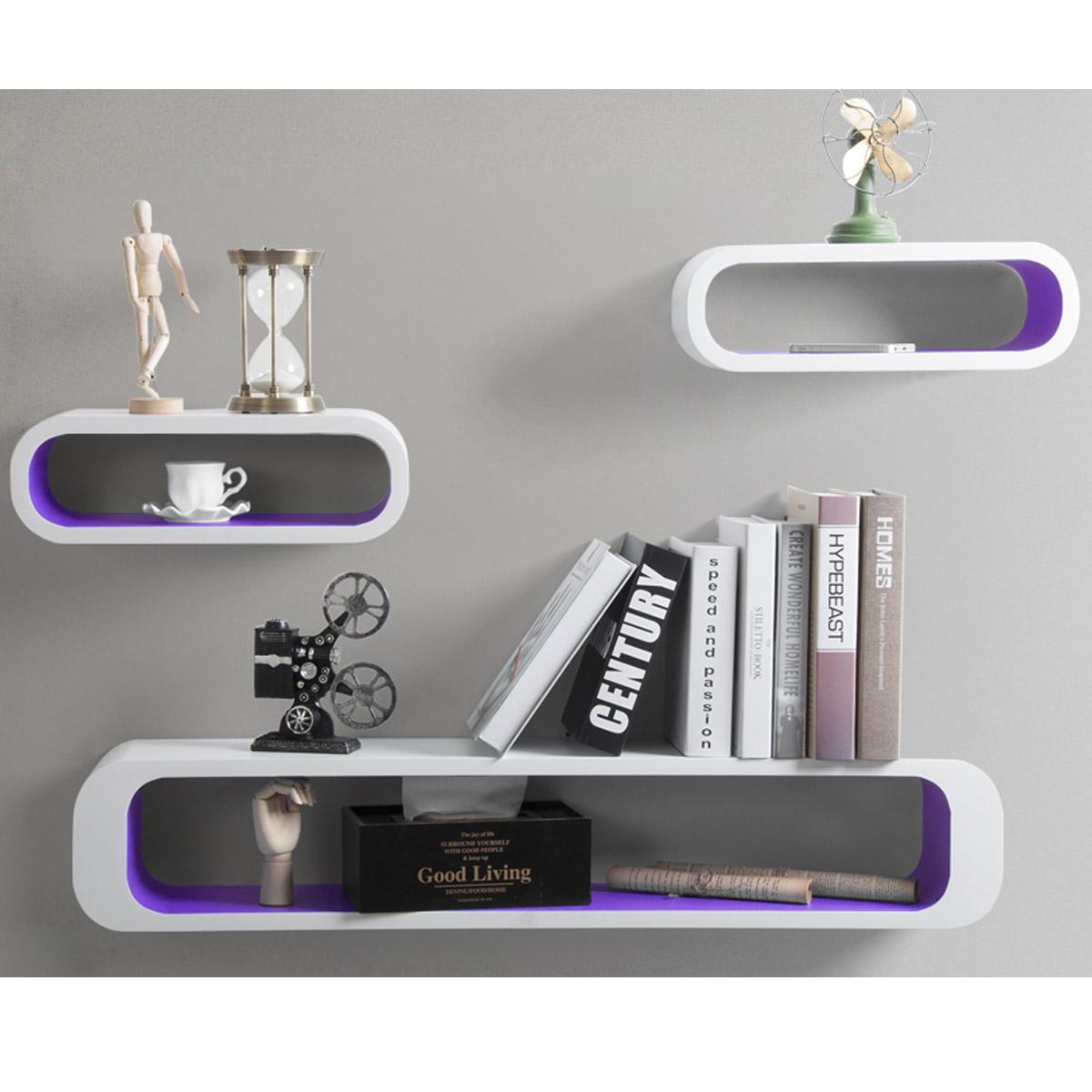 wandregal 3er set h ngeregal holzregal b cherregal regale cube lounge regal 178 ebay. Black Bedroom Furniture Sets. Home Design Ideas