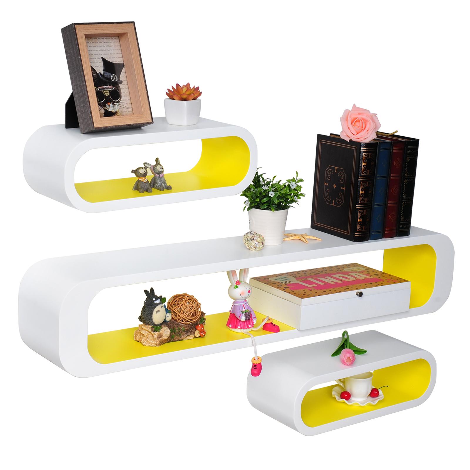3er set wandregal b cherregal h ngeregal regal b roregal. Black Bedroom Furniture Sets. Home Design Ideas