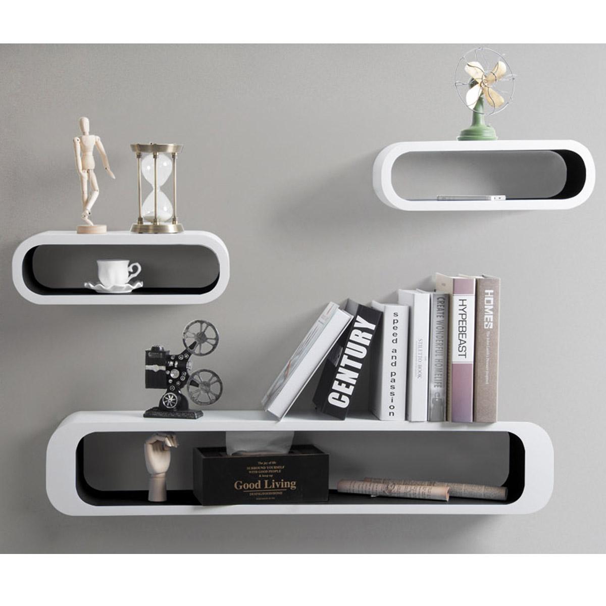 flottante tag res murales en bois mdf tag re cd dvd murale 8 couleurs f057 ebay. Black Bedroom Furniture Sets. Home Design Ideas