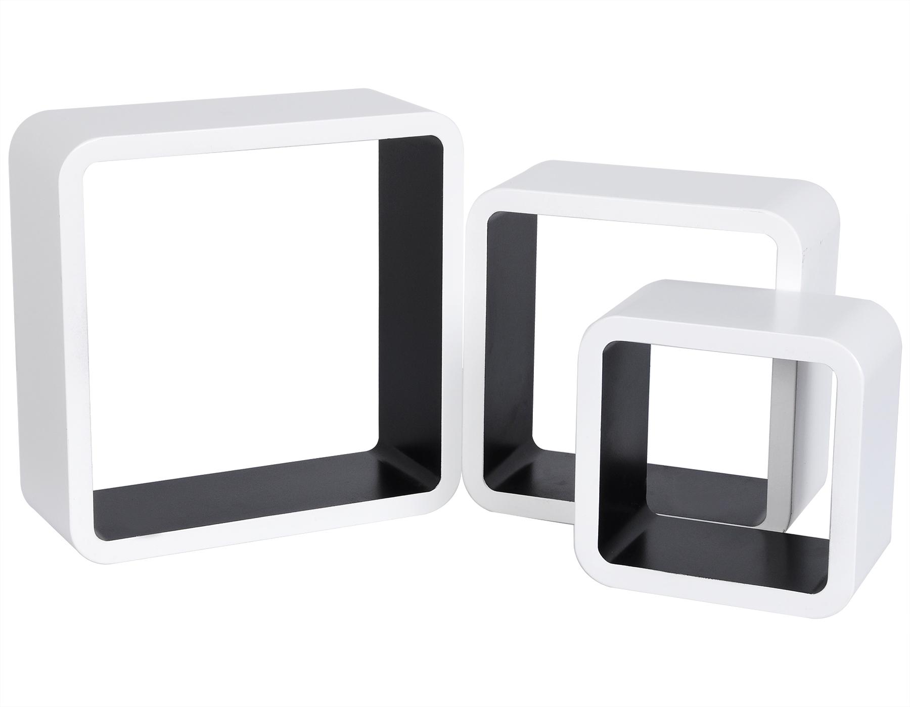 wandregal h ngeregal b cherregal cd regal cube regale holz wei schwarz rg9236sz ebay. Black Bedroom Furniture Sets. Home Design Ideas