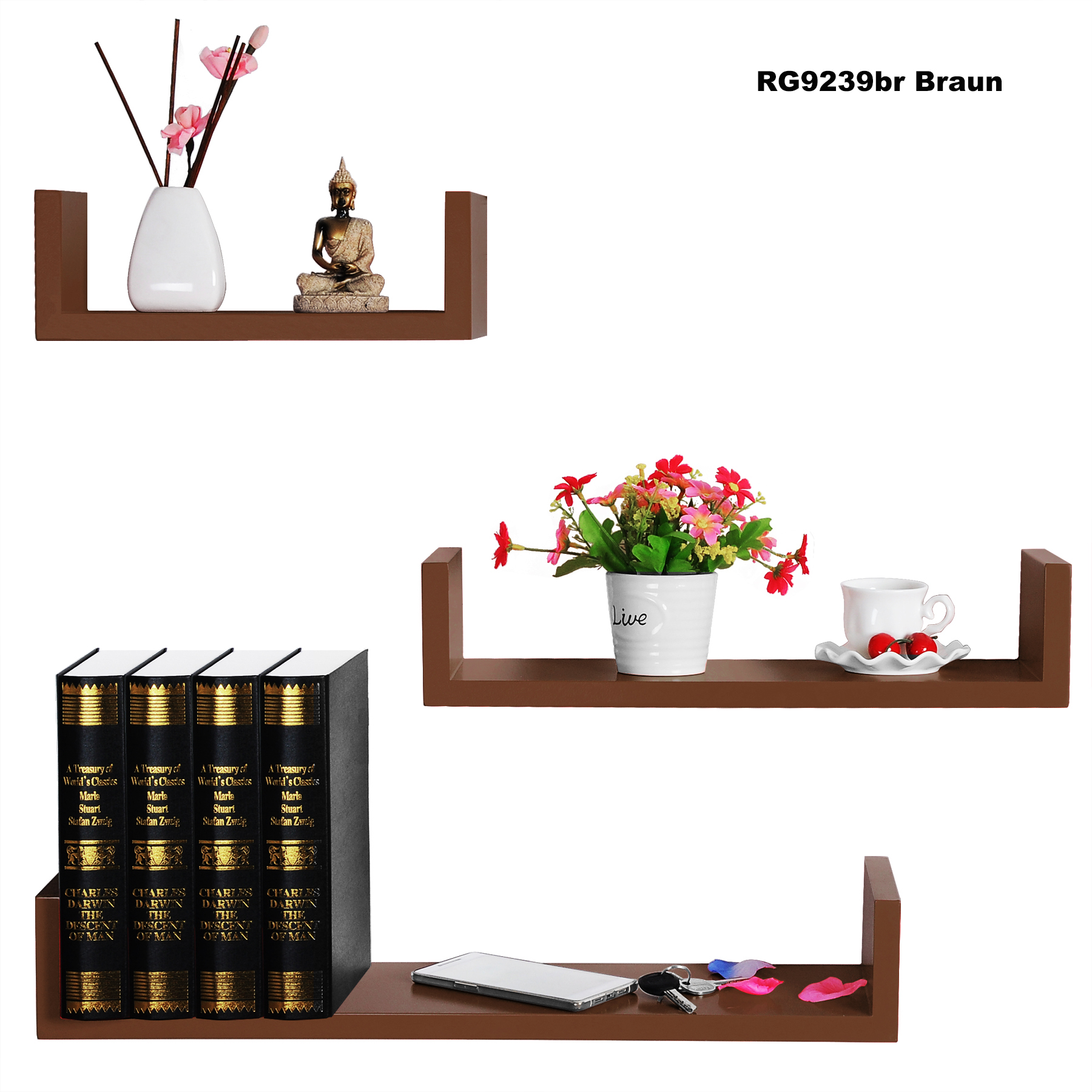wandregal h ngeregal b cherregal holz wandboard cube. Black Bedroom Furniture Sets. Home Design Ideas