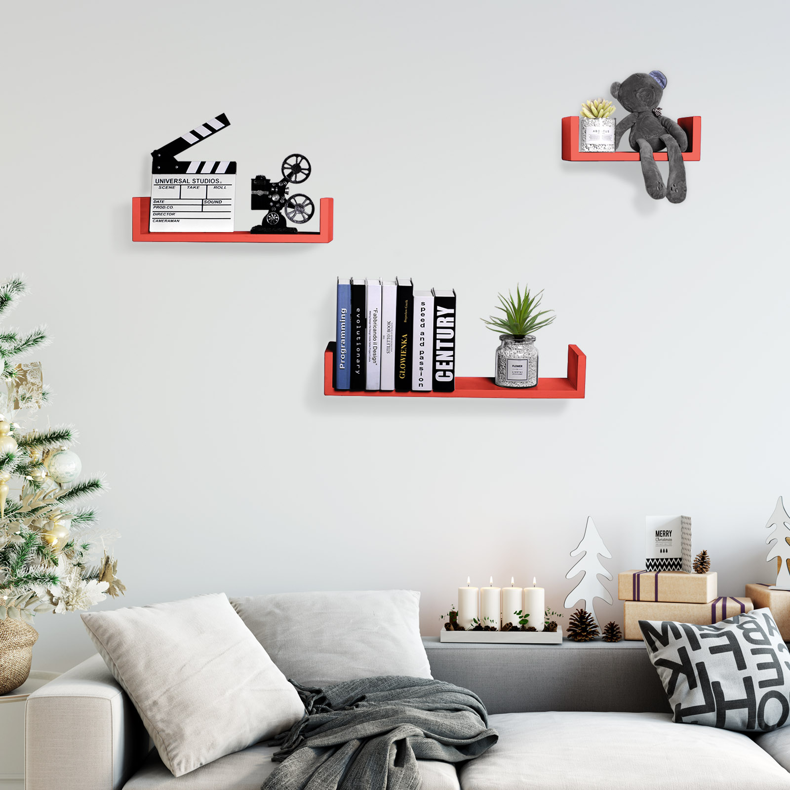 wandregal 3er set b cher cd regal b cherregal dekoregal. Black Bedroom Furniture Sets. Home Design Ideas