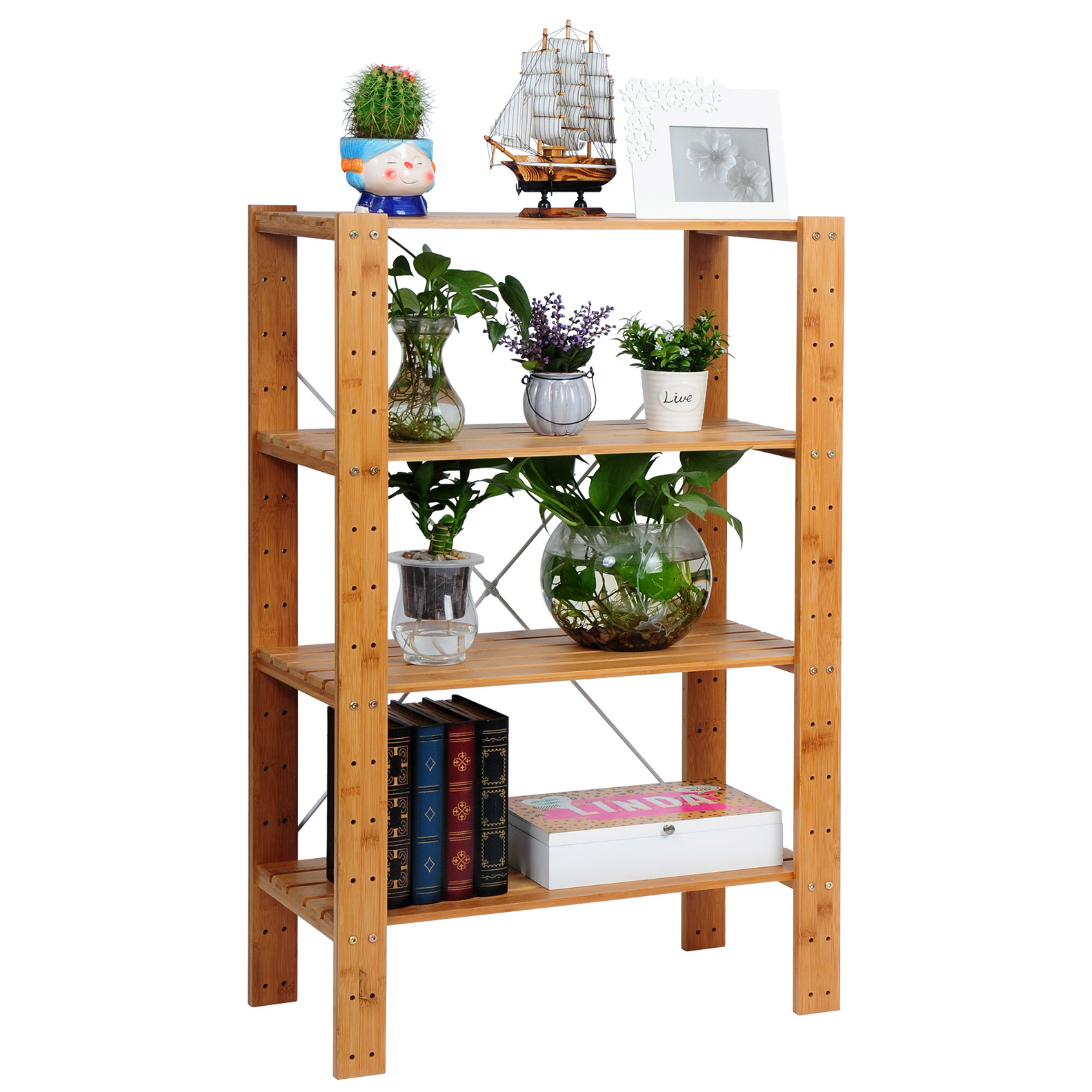 tag re en bambou tag res debout salle de bain cuisine tag re rangement f123 ebay. Black Bedroom Furniture Sets. Home Design Ideas