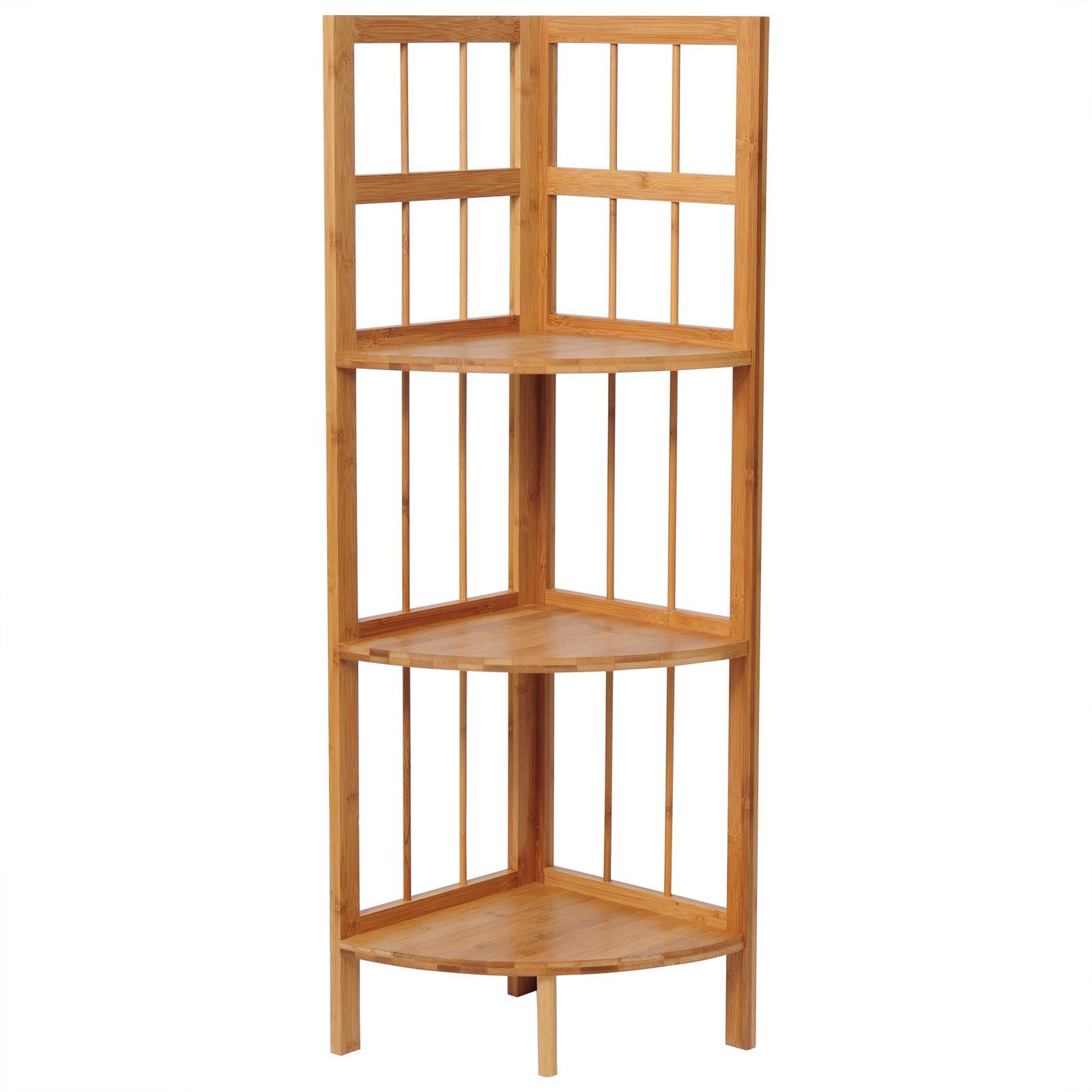 standregal 3 etagen eckregal bambus regal b cherregal. Black Bedroom Furniture Sets. Home Design Ideas