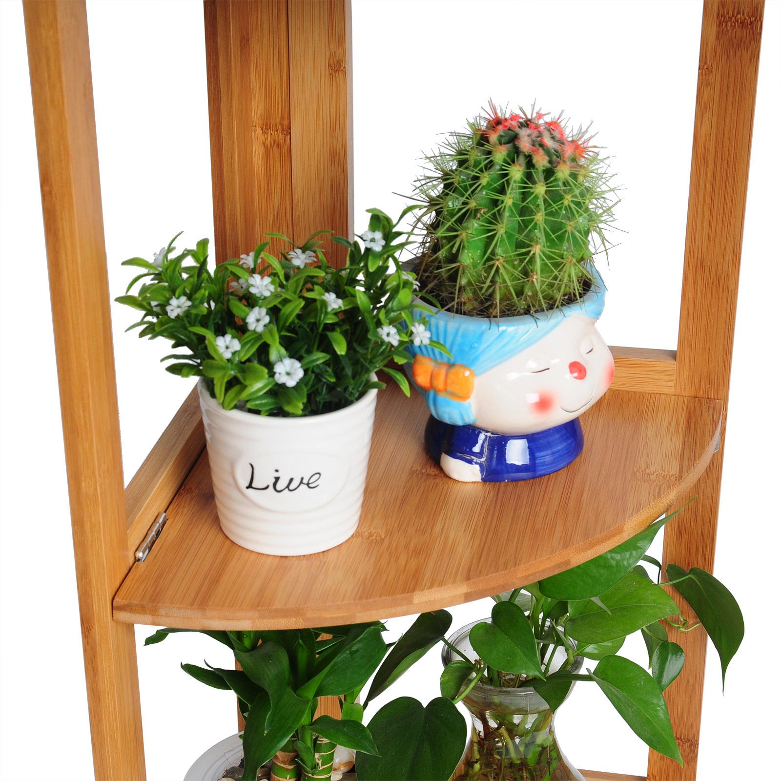 standregal 4 etagen eckregal bambus regal b cherregal. Black Bedroom Furniture Sets. Home Design Ideas