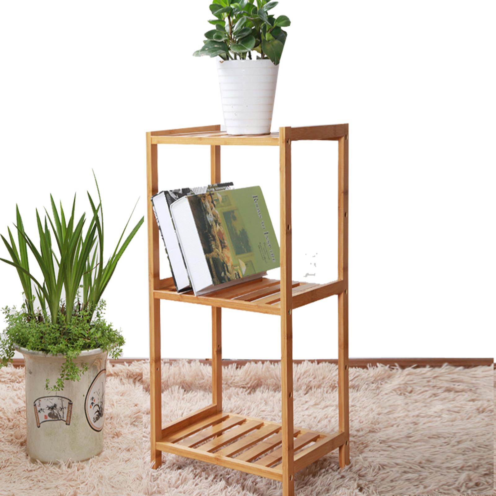 regal aus bambus badregal standregal k chenregal cd b cher holzregal 601 ebay. Black Bedroom Furniture Sets. Home Design Ideas