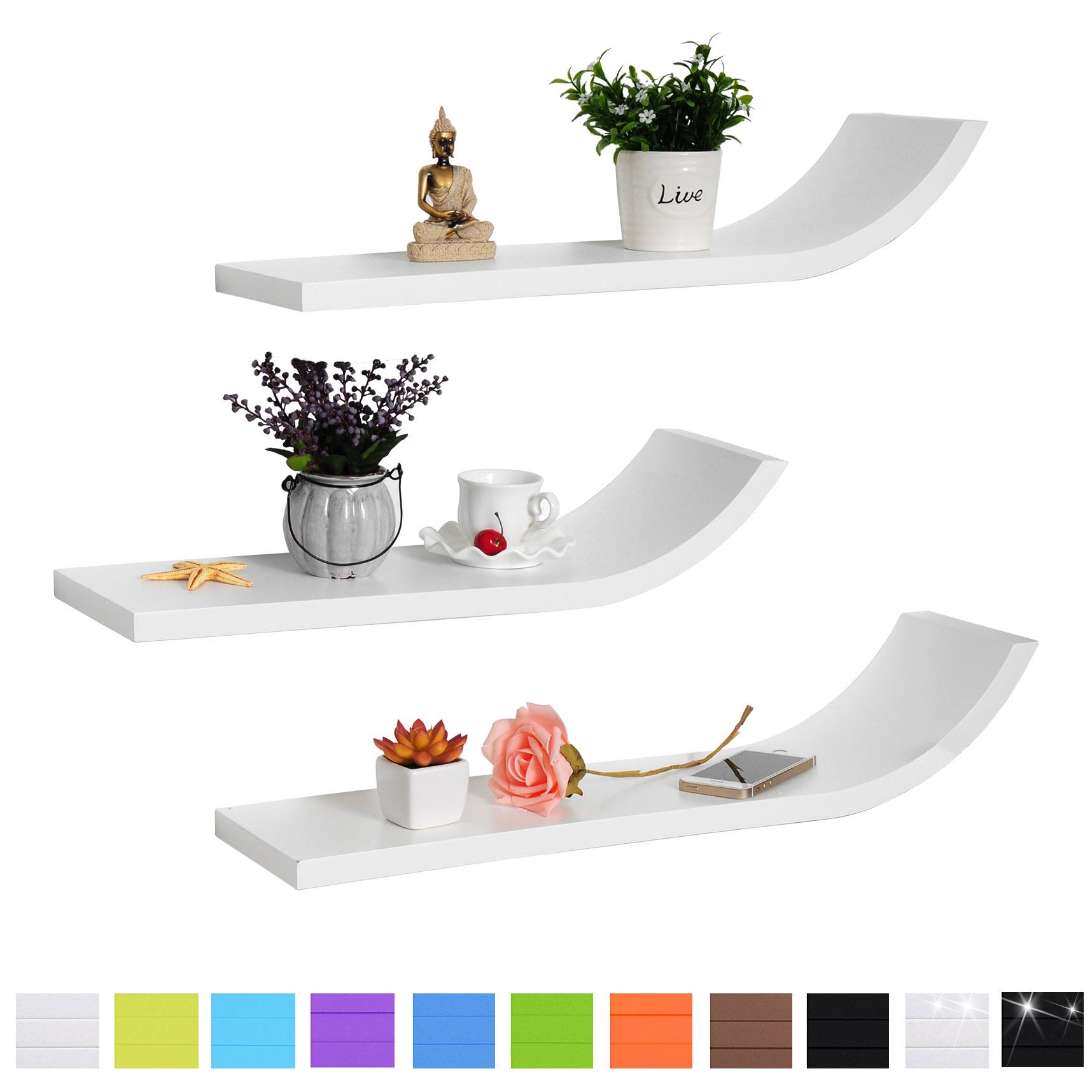 wandregal h ngeregal b cheregal cube cd regal 3er set. Black Bedroom Furniture Sets. Home Design Ideas