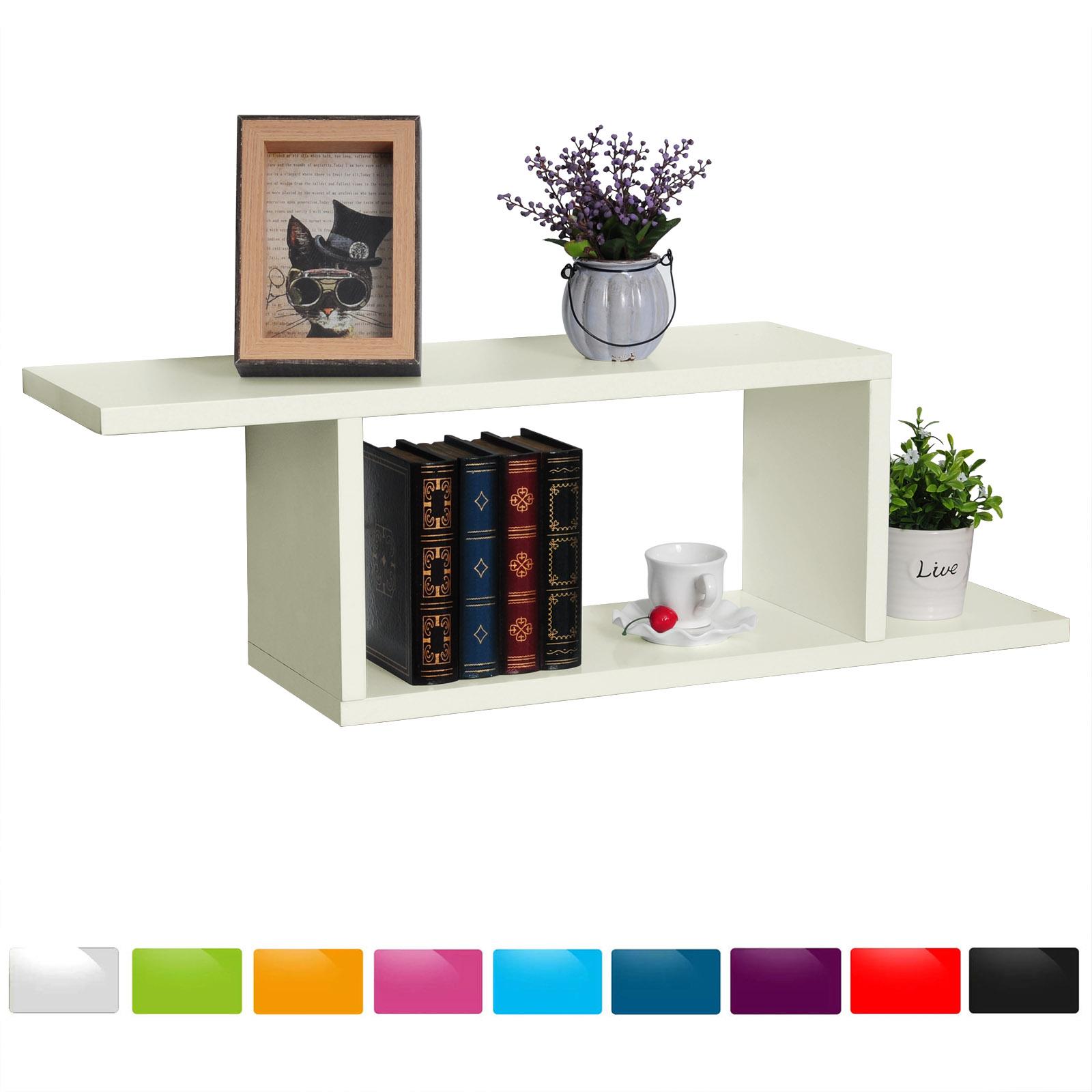 wandregal h ngeregal b cheregal cube cd regal 3er set holzregal schweberegal 65 ebay. Black Bedroom Furniture Sets. Home Design Ideas