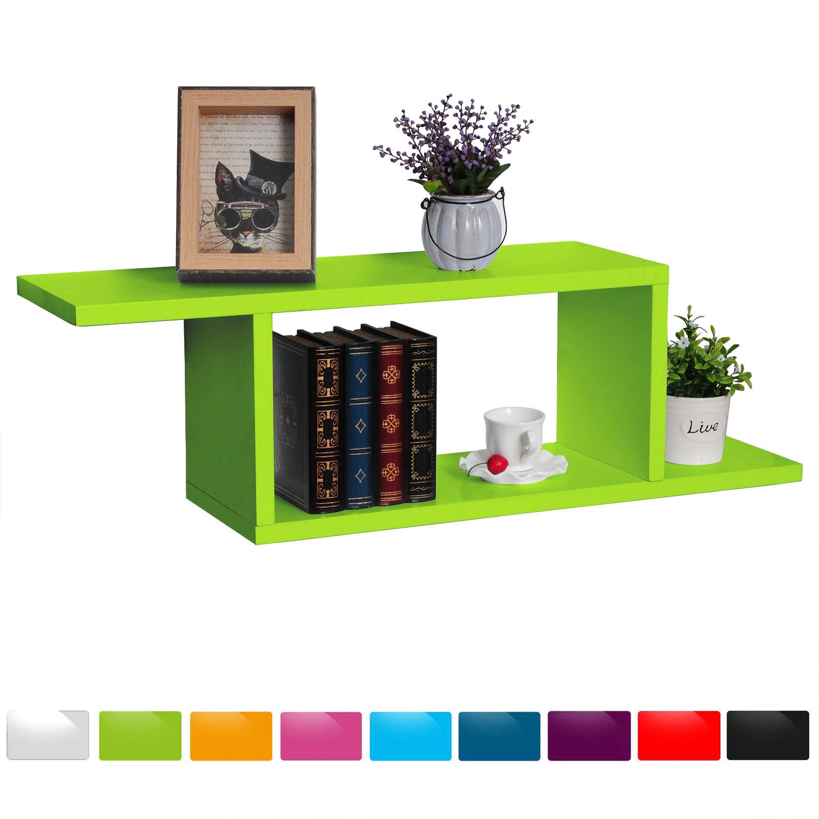 lot de 3 tag re murale en mdf pour livres cd dvd tag re de mini petit pot f122 ebay. Black Bedroom Furniture Sets. Home Design Ideas