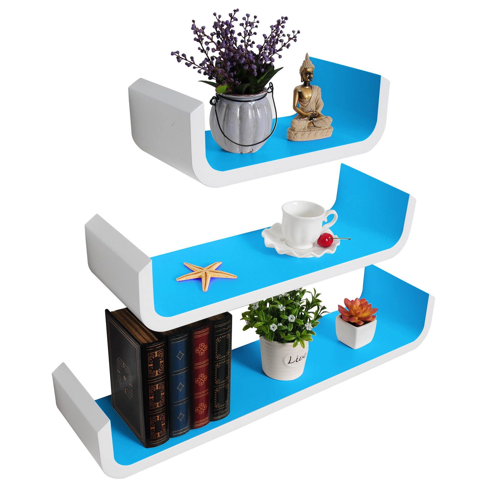 etag re murale tablette en mdf tag re de rangement pour cd dvd livres f119 ebay. Black Bedroom Furniture Sets. Home Design Ideas