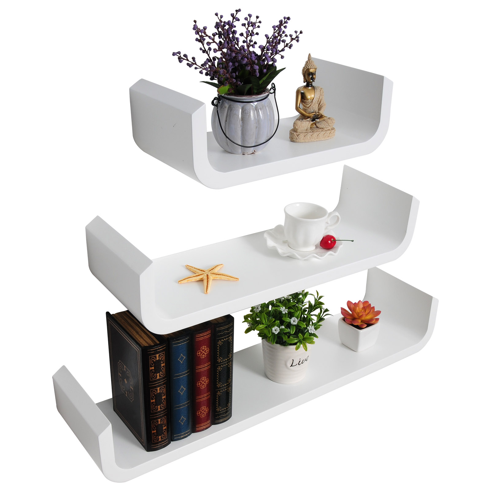 Floating-Wall-Shelves-Set-of-3-Board-Wall-Mount-Shelf-Storage-amp-Decorative-u117