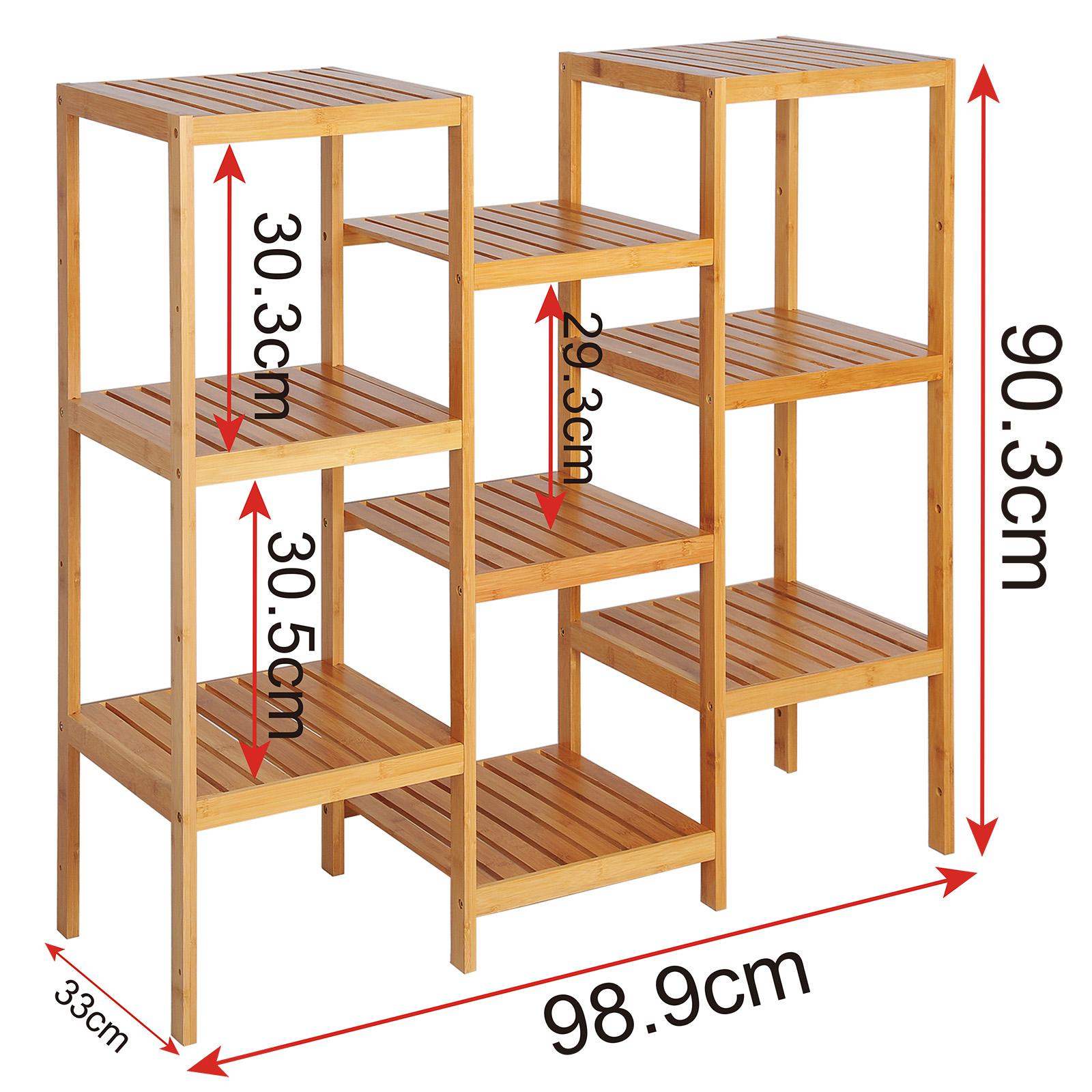 standregal badregal duschregal blumenregal k che bambus viele modelle e268 ebay. Black Bedroom Furniture Sets. Home Design Ideas