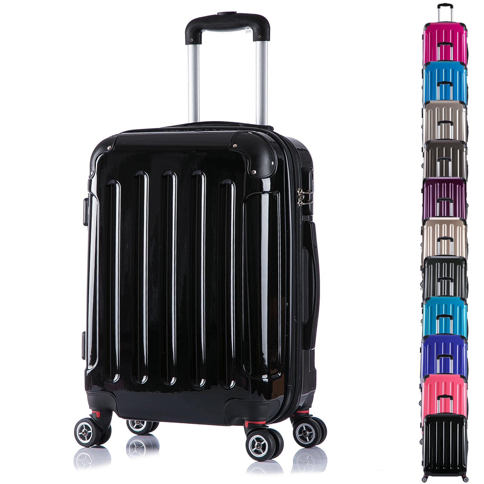 valise cabine rigide bagage de voyage avec 4 roulettes taille m xl f148 ebay. Black Bedroom Furniture Sets. Home Design Ideas