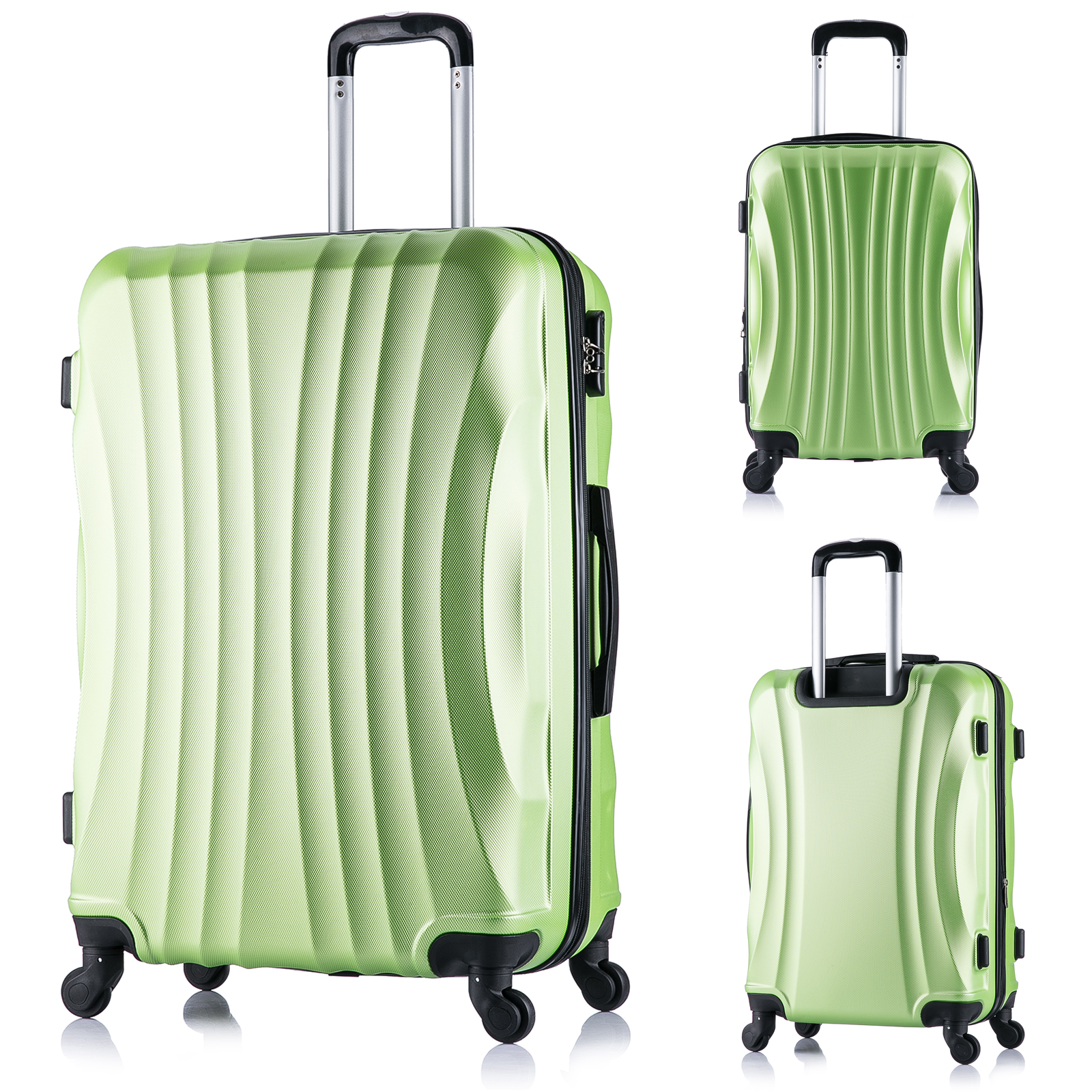 valise bagage de voyage l ger avec 4 roulettes taille m xl f149 ebay. Black Bedroom Furniture Sets. Home Design Ideas