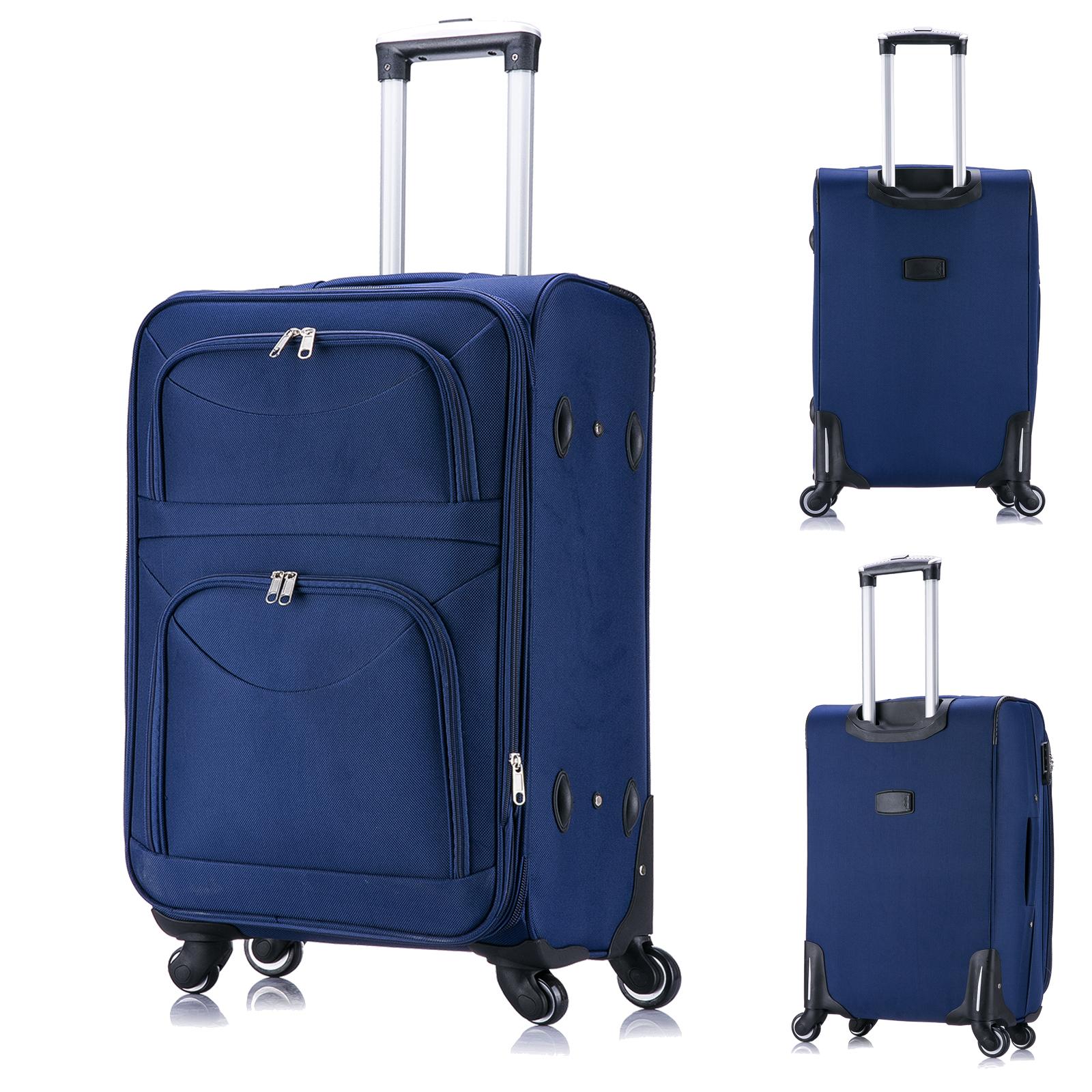 valise de voyage bagage en tissu avec 4 roues taille m xl. Black Bedroom Furniture Sets. Home Design Ideas
