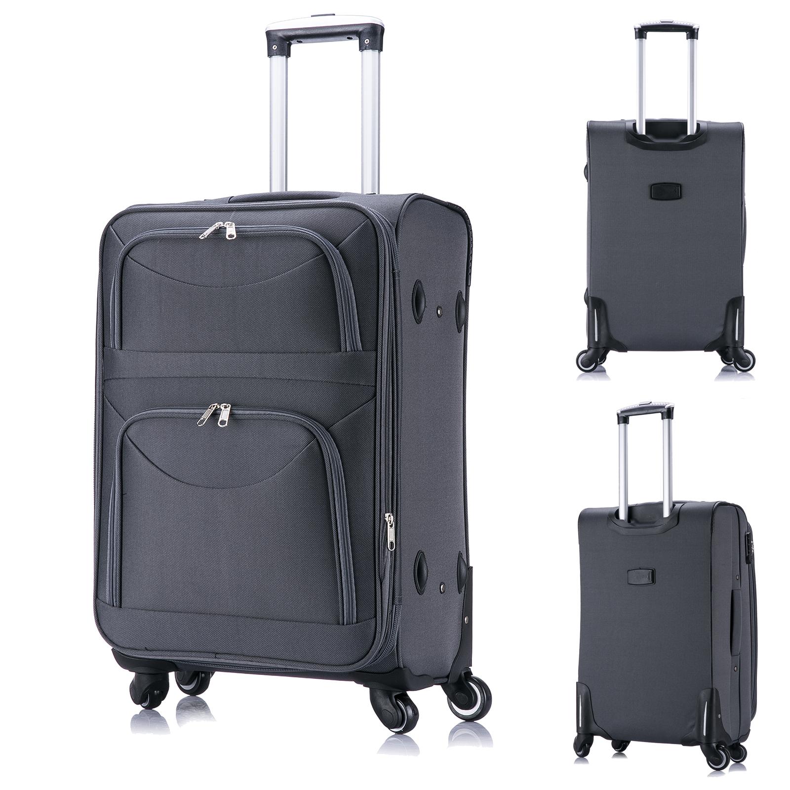 valise de voyage bagage en tissu avec 4 roues taille m xl f150 ebay. Black Bedroom Furniture Sets. Home Design Ideas