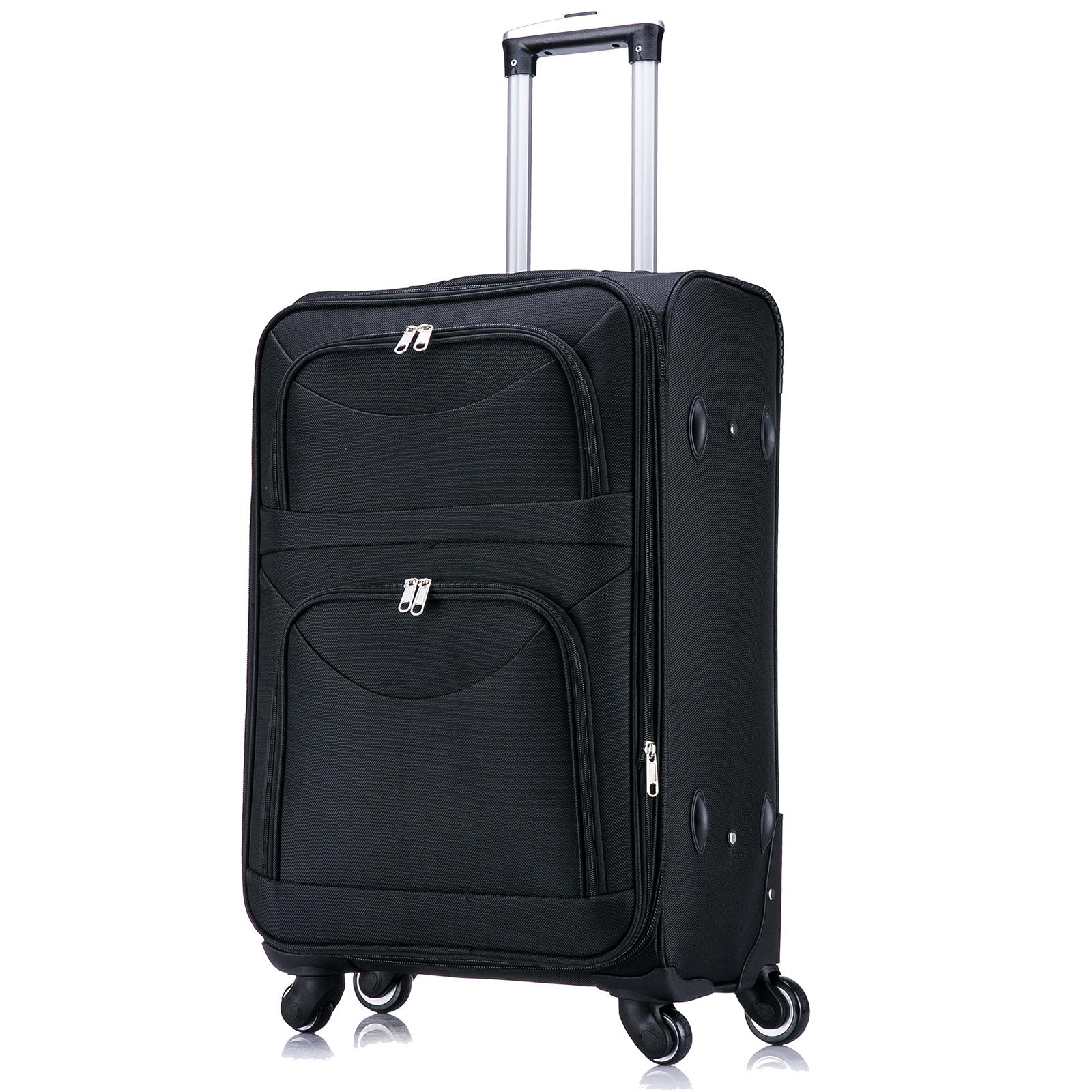 koffer trolley weichgep ck reisekoffer stoff handgep ck xl. Black Bedroom Furniture Sets. Home Design Ideas