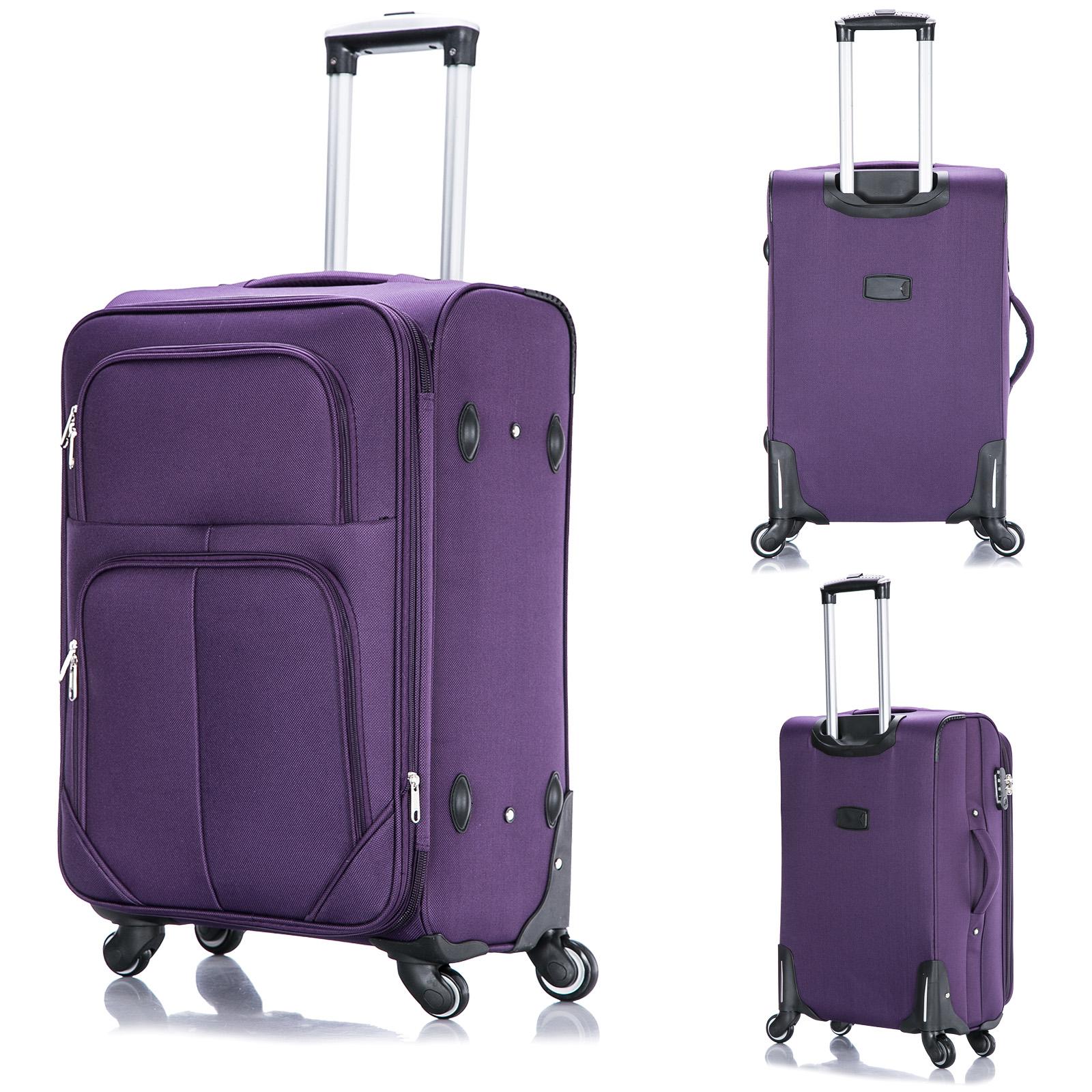 reise koffer trolley stoff weichgep ck handgep ck m 4. Black Bedroom Furniture Sets. Home Design Ideas