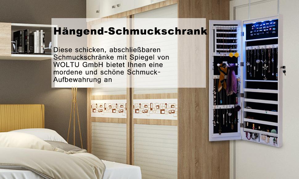 Spiegel Schmuckschrank Standspiegel Wandspiegel Schmuckkasten ...
