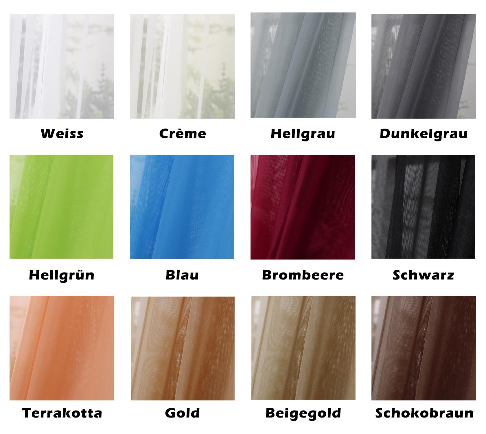 Gardinen Vorhang transparent Ösenschal Kräuselband Dekoschal