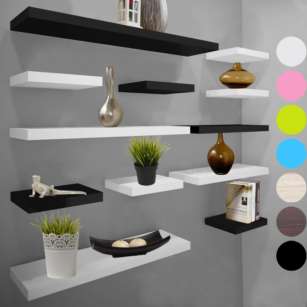 wandboard wandregal b cherregal h ngeregal dvd cd holzregal freischwebend 349. Black Bedroom Furniture Sets. Home Design Ideas