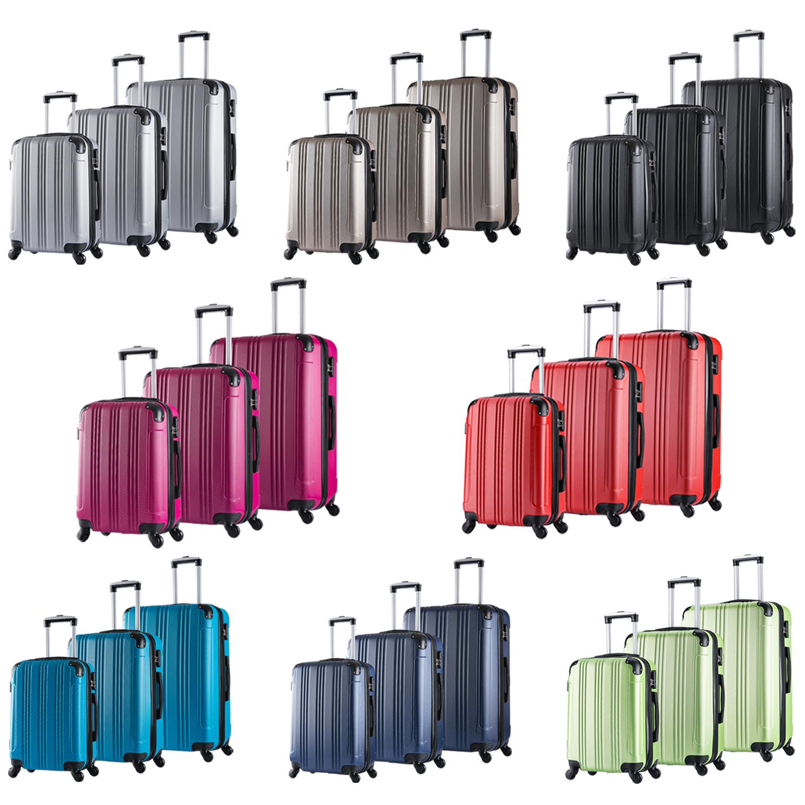 reise koffer trolley set reisekofferset hartschalenkoffer. Black Bedroom Furniture Sets. Home Design Ideas