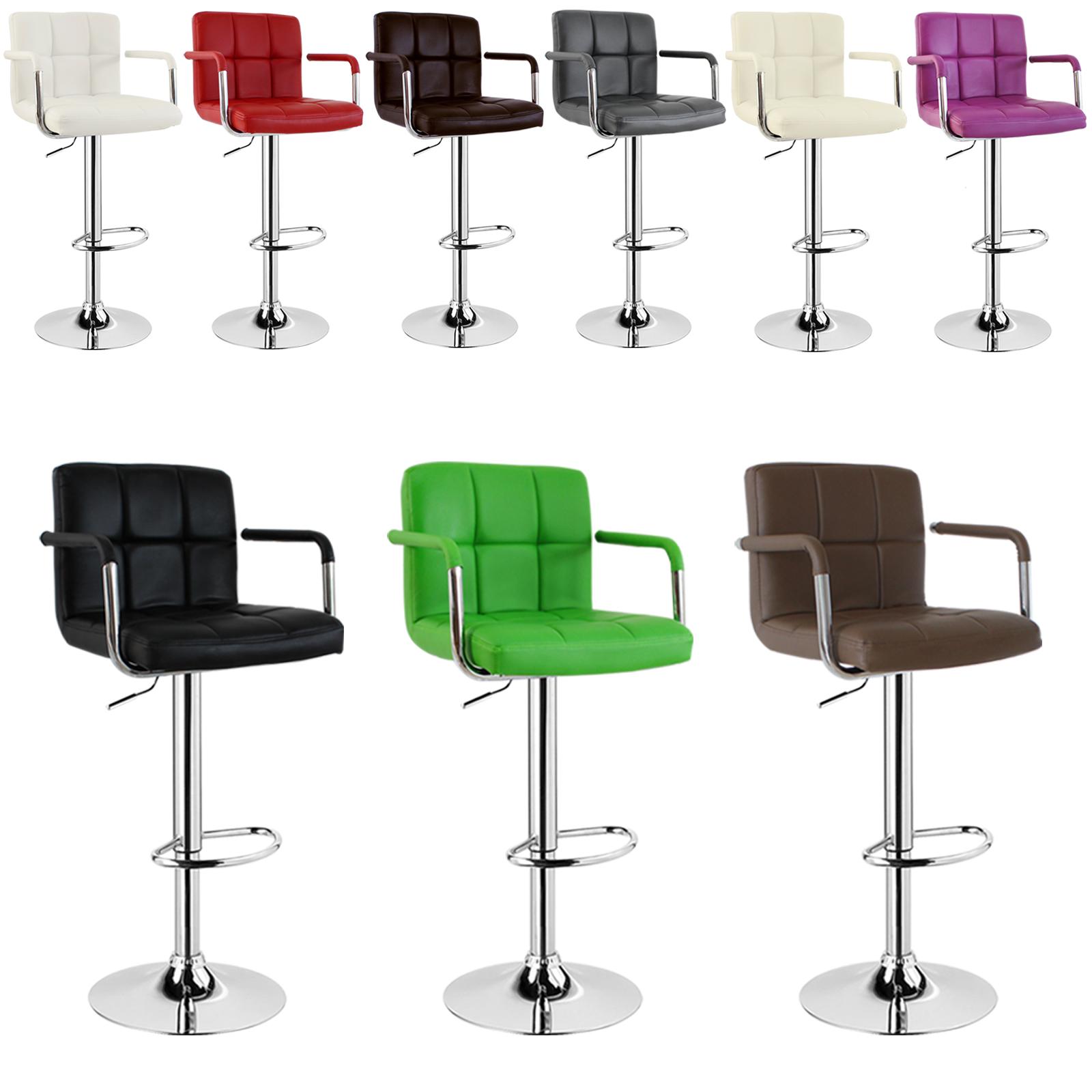 tabouret de bar comptoir similicuir salon tournant 1pcs 502 24 ebay. Black Bedroom Furniture Sets. Home Design Ideas