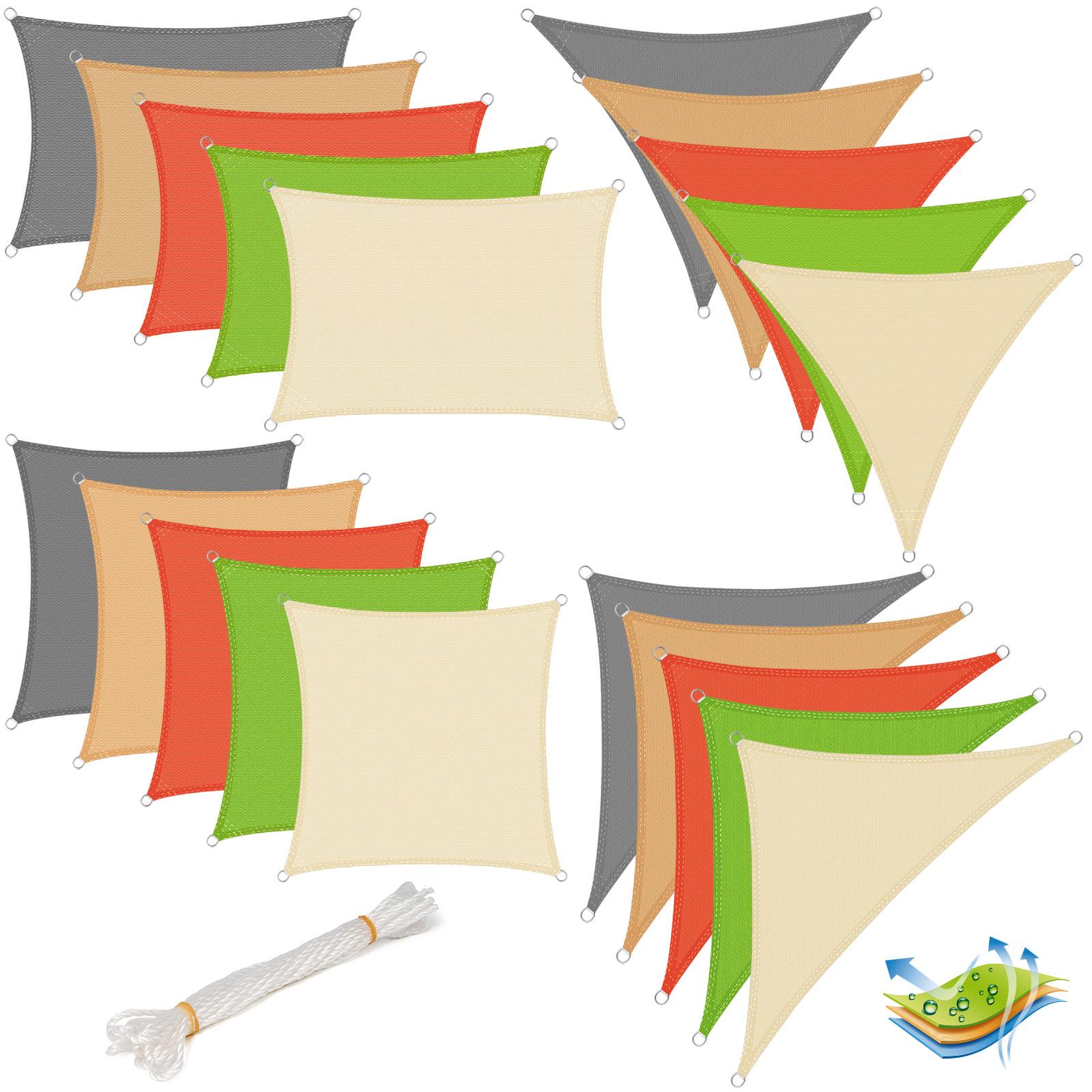 sonnensegel sonnendach uv schutz rechteck quadrat dreieck pes hdpe garten 607 ebay. Black Bedroom Furniture Sets. Home Design Ideas