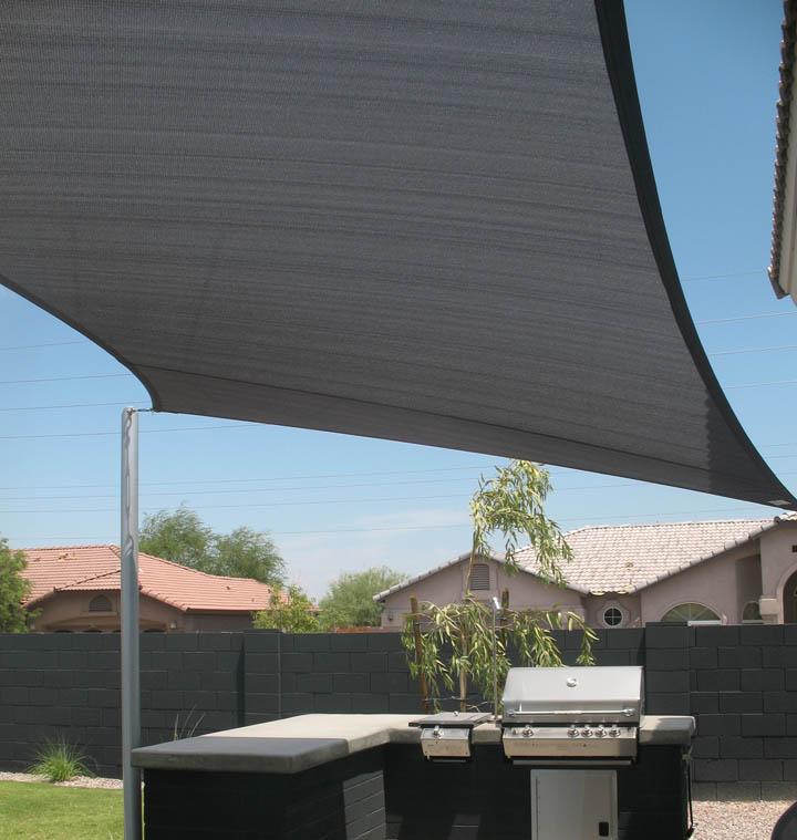 sonnensegel rechteck sonnenschutz sichtschutz uv schutz atmungsaktiv hdpe grau ebay. Black Bedroom Furniture Sets. Home Design Ideas