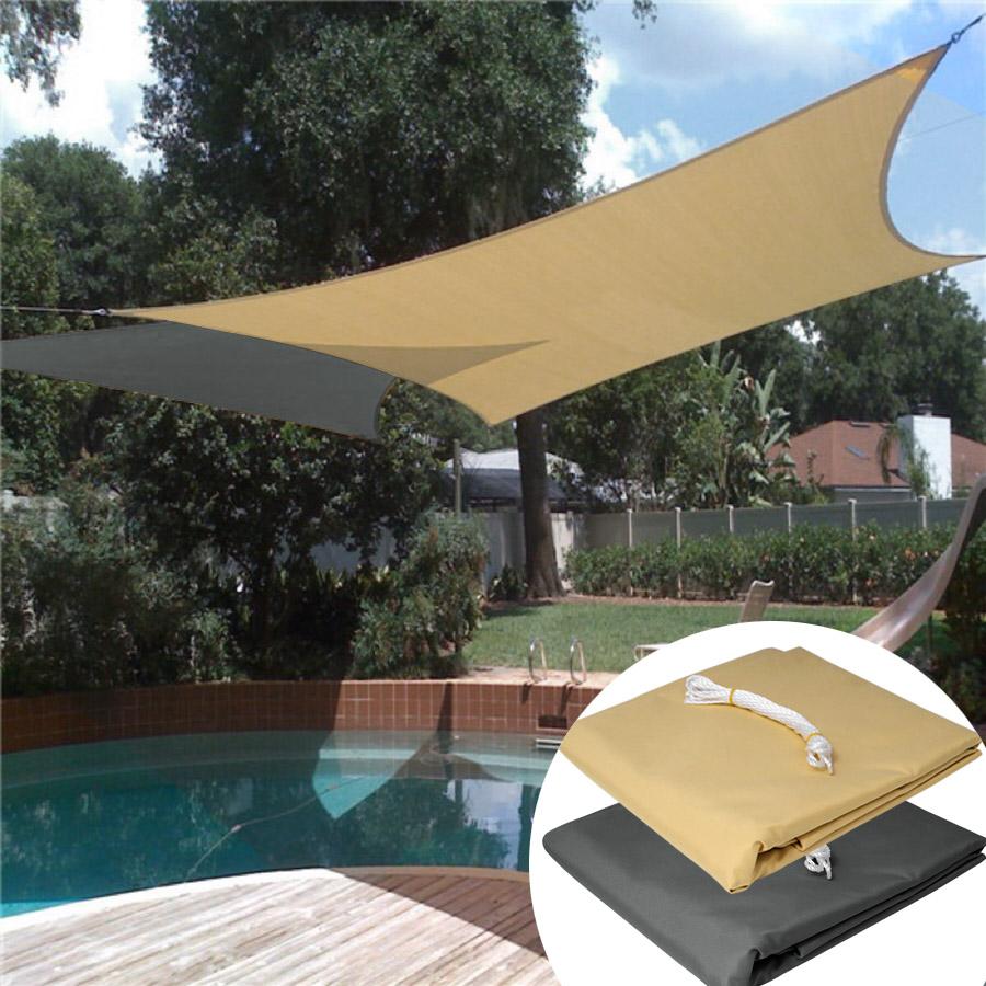 sonnensegel sonnenschutz polyester windschutz sichtschutz sonnendach garten 609 ebay. Black Bedroom Furniture Sets. Home Design Ideas
