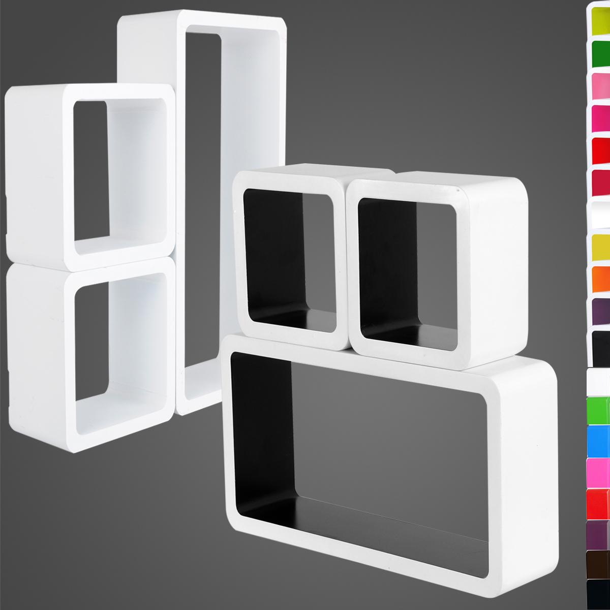 3 x set floating wall shelf floating shelves storage. Black Bedroom Furniture Sets. Home Design Ideas