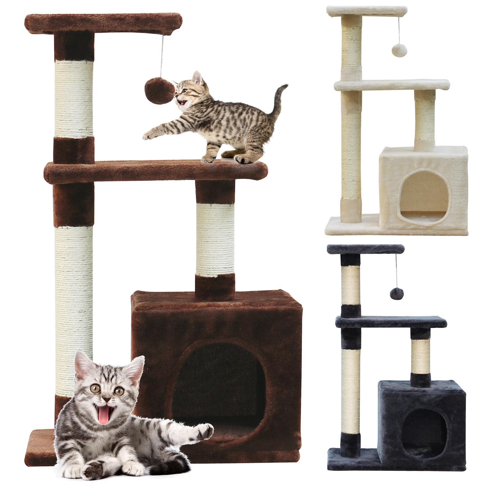 cat tree scratching post tree sisal tower activity centre cat condo u139 ebay. Black Bedroom Furniture Sets. Home Design Ideas