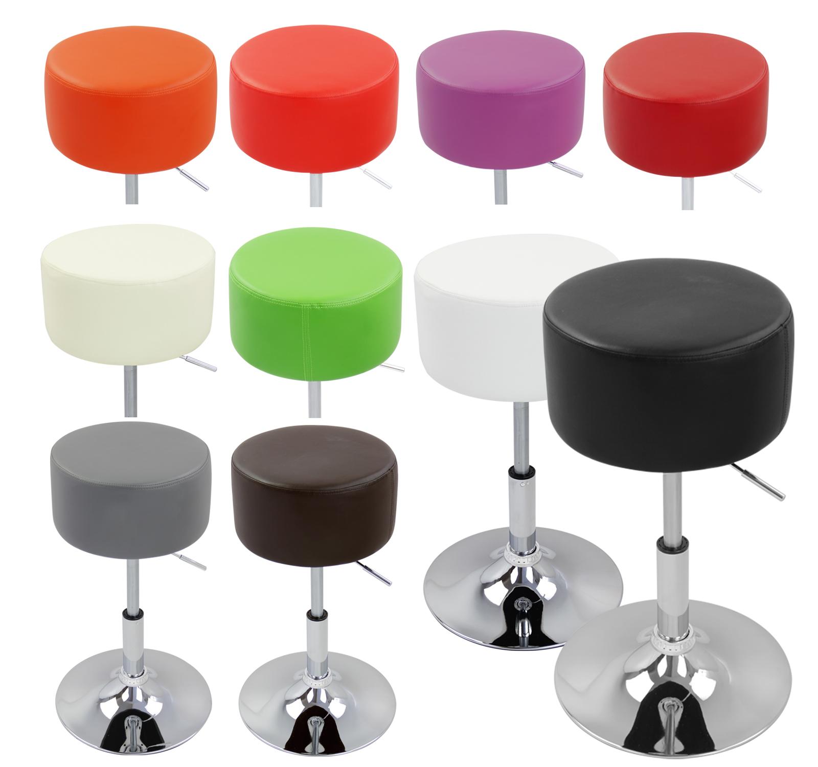 hocker 2er mit griff kunstleder verchromt stahl sitzhocker drehhocker stuhl 73 ebay. Black Bedroom Furniture Sets. Home Design Ideas