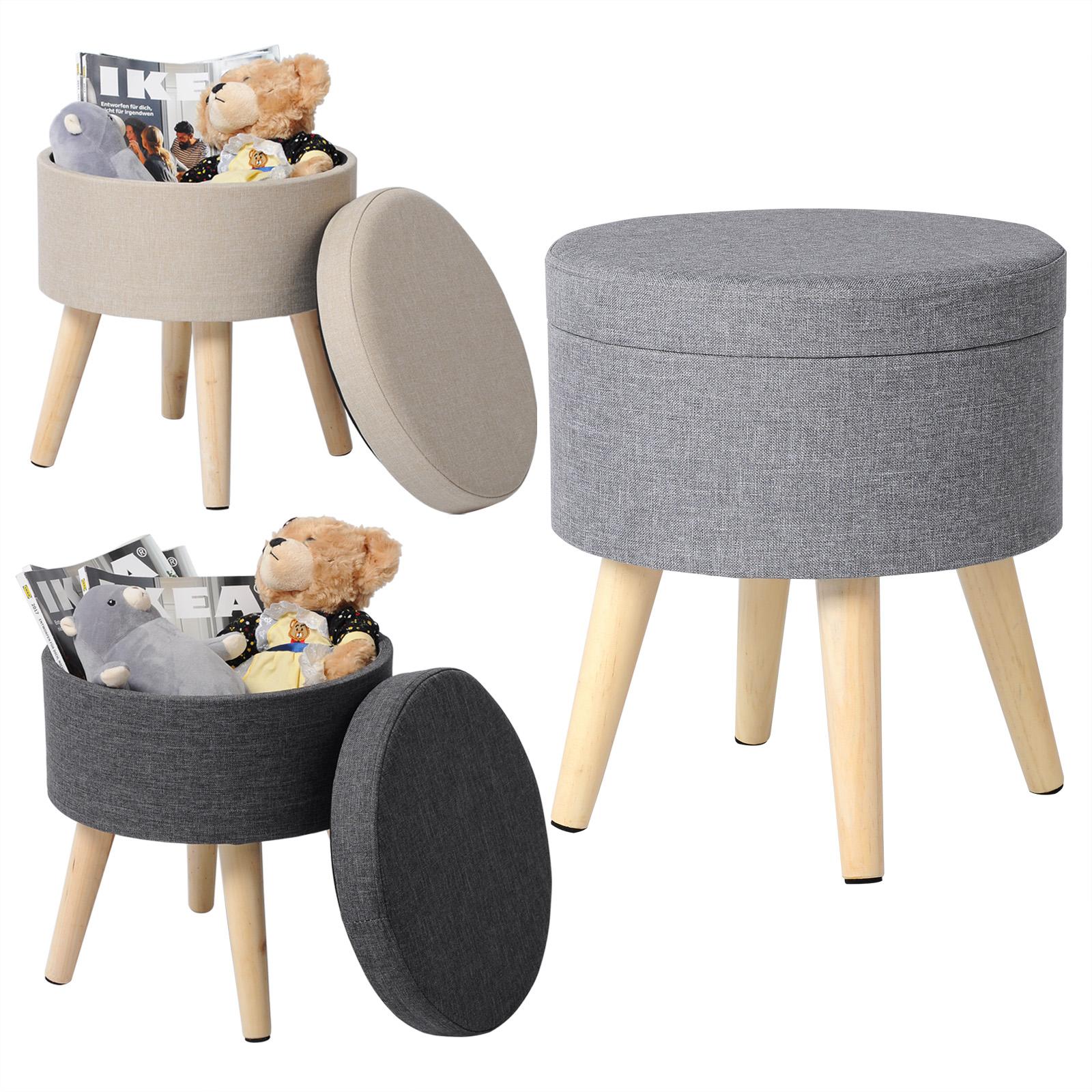 sitzhocker fu hocker hocker polsterhocker hocker mit stauraum leinen 753 24 ebay. Black Bedroom Furniture Sets. Home Design Ideas