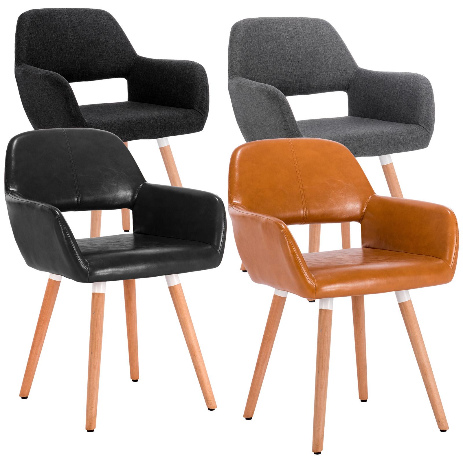Esszimmerstuhl Design Stuhl Küchenstuhl Lehnstuhl Polsterstuhl Holz 800 24   eBay