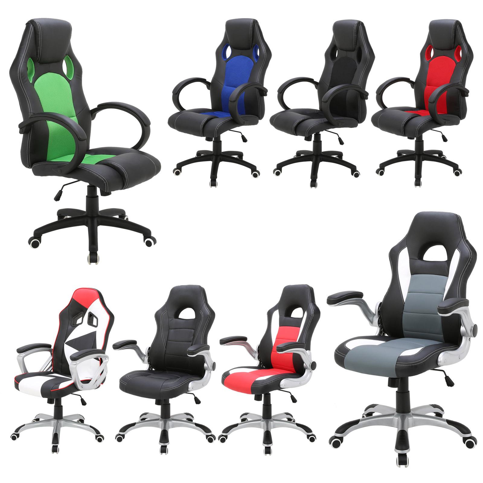 Racing Stuhl Gaming Stuhl Schreibtischstuhl Bürostuhl drehbar ...