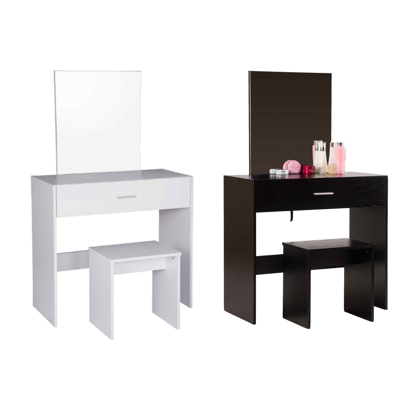 schminktisch mit spiegel und hocker kosmetiktisch frisiertisch schreibtisch 924 ebay. Black Bedroom Furniture Sets. Home Design Ideas