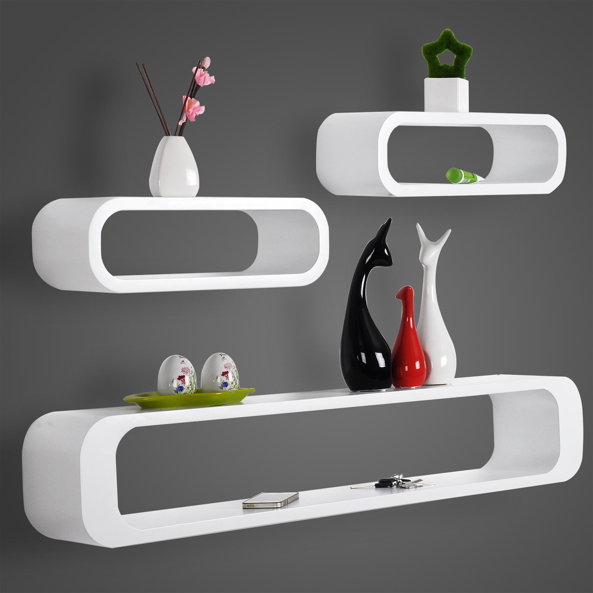 Cube Wavy Board Fan Shape Floating Wall Shelves Shelf For