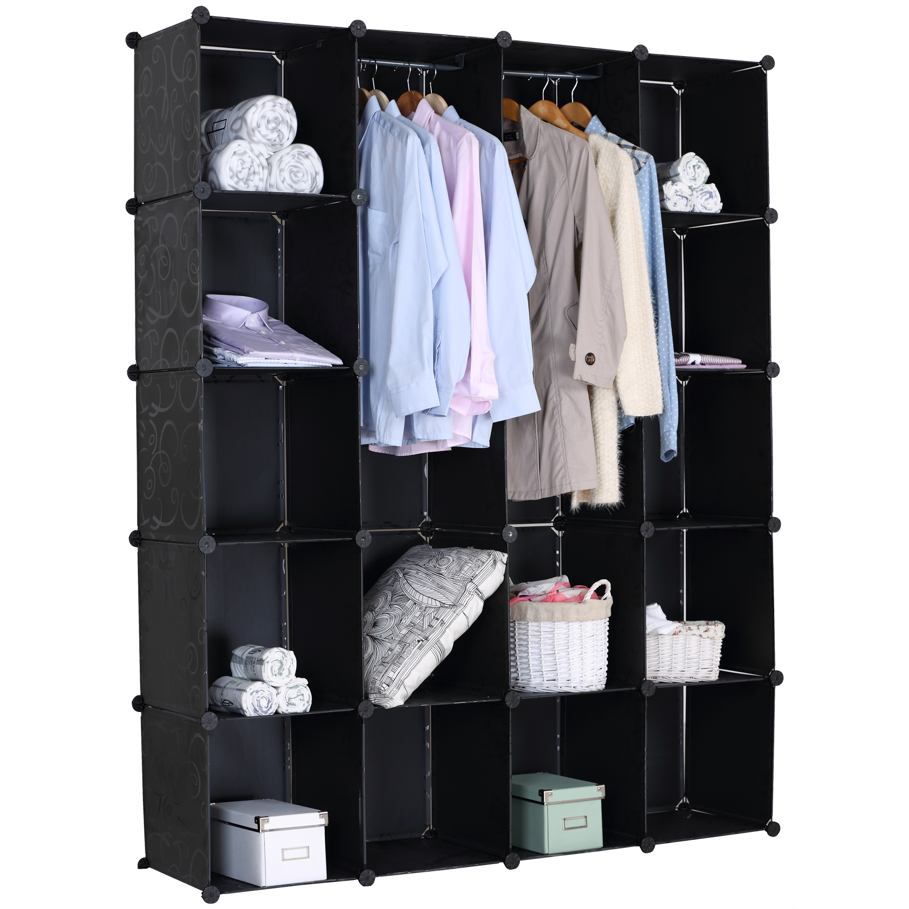 kleiderschrank kunststoff schuhschrank steckregal badregal regalsystem diy 171 ebay. Black Bedroom Furniture Sets. Home Design Ideas