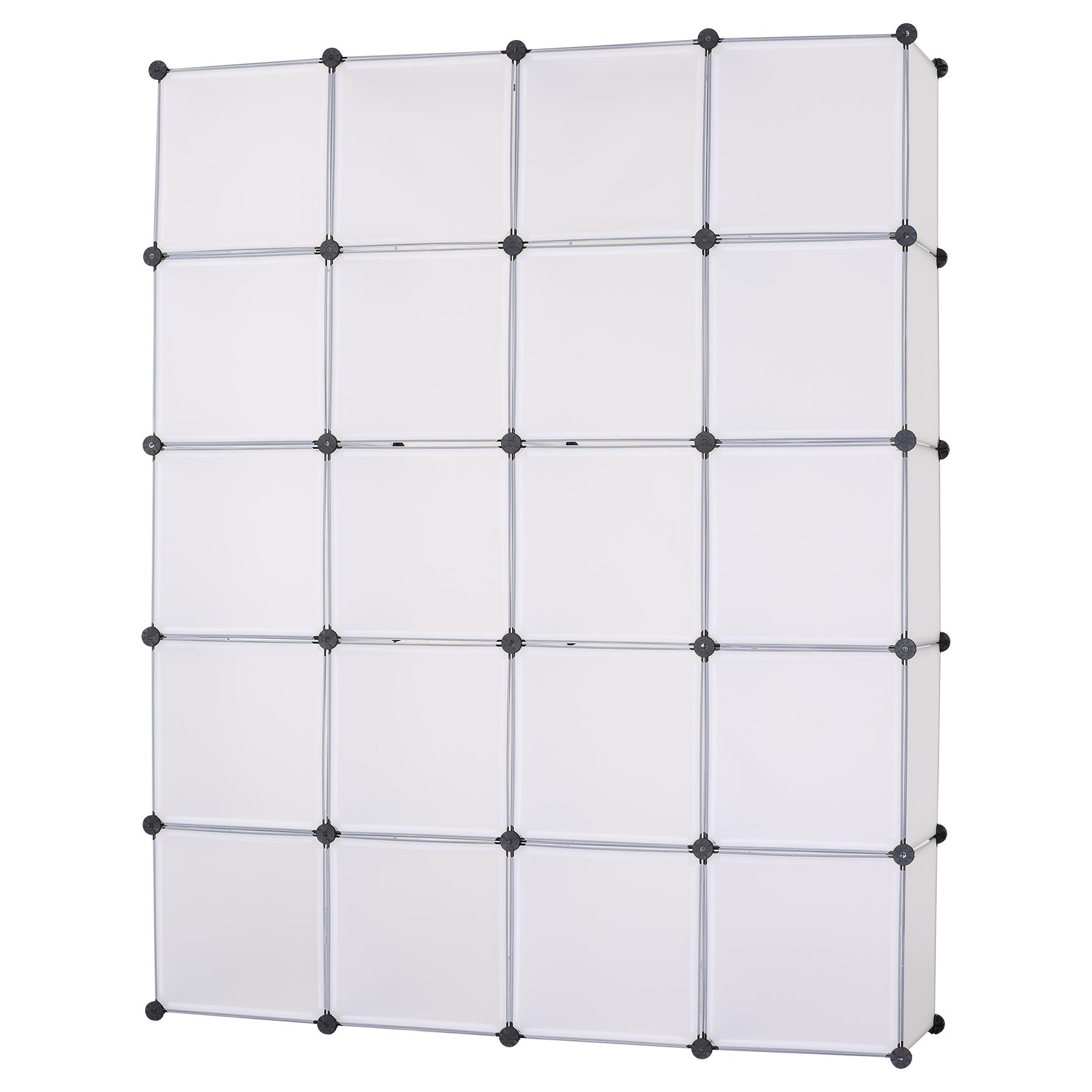 kleiderschrank garderobenschrank diy steckregal ohne t r xxl lagerregal sr0011ot ebay. Black Bedroom Furniture Sets. Home Design Ideas