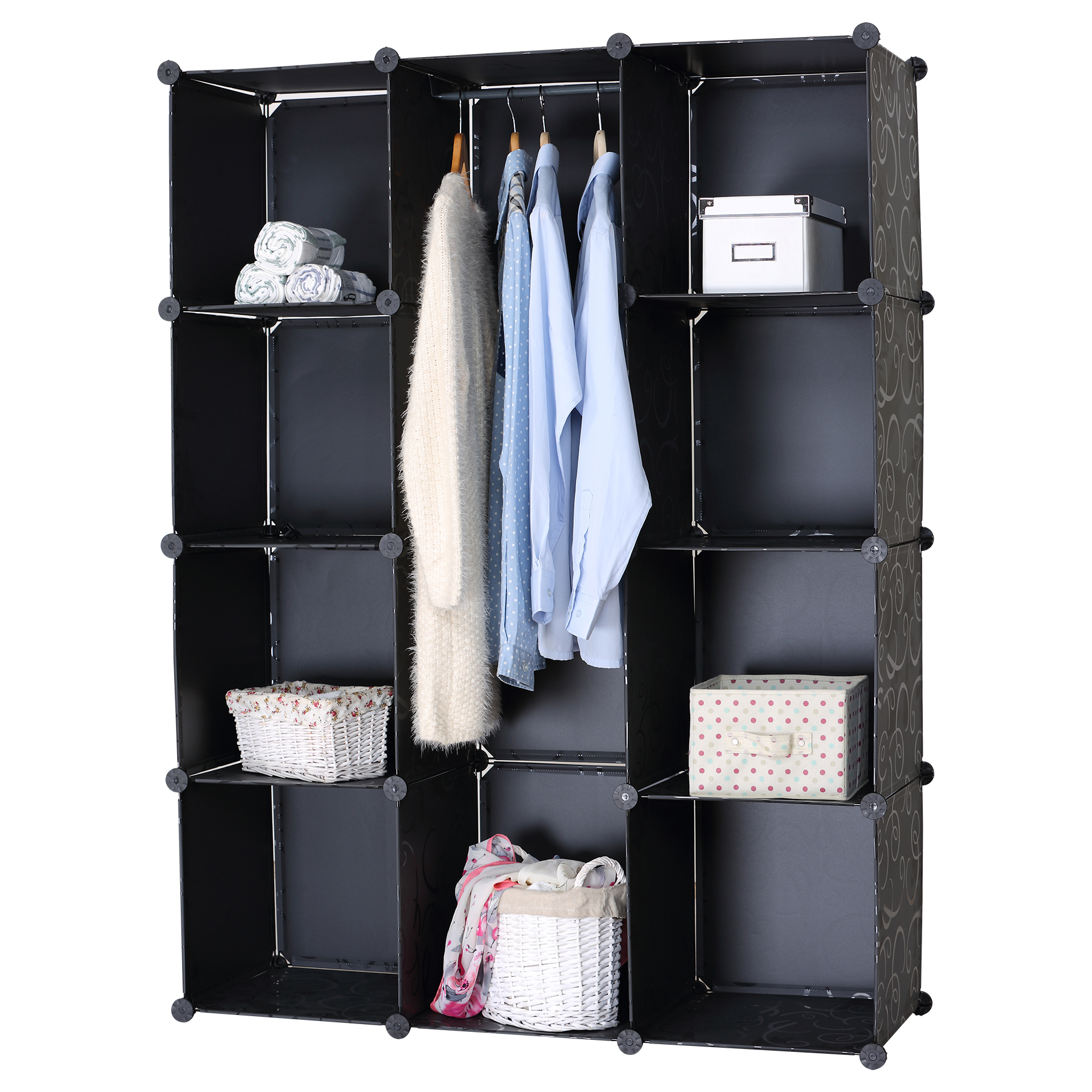 regalsystem kleiderschrank garderobenschrank kunststoff. Black Bedroom Furniture Sets. Home Design Ideas