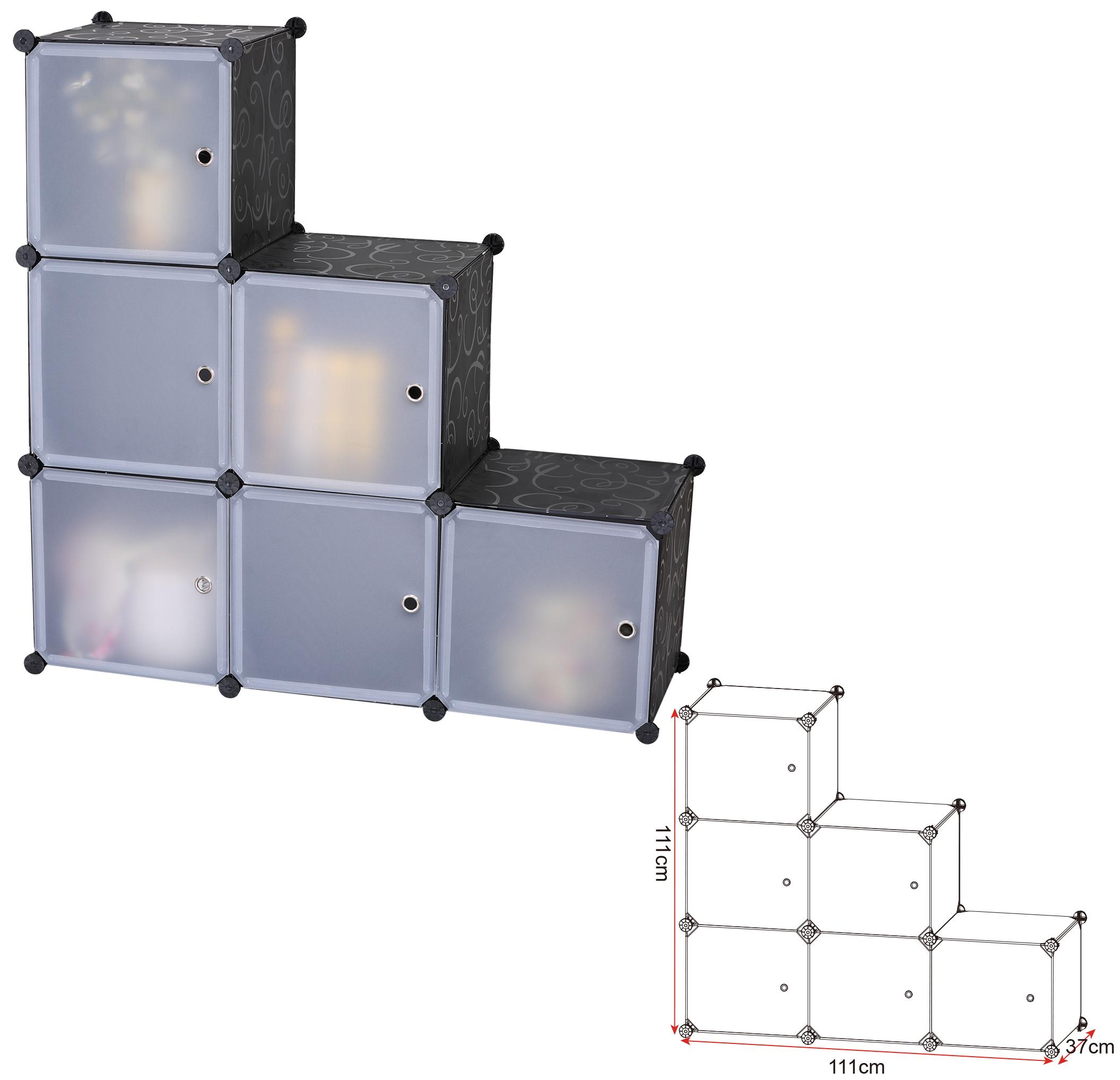 kleiderschrank kunststoff schuhschrank steckregal badregal regalsystem diy 171 ebay. Black Bedroom Furniture Sets. Home Design Ideas