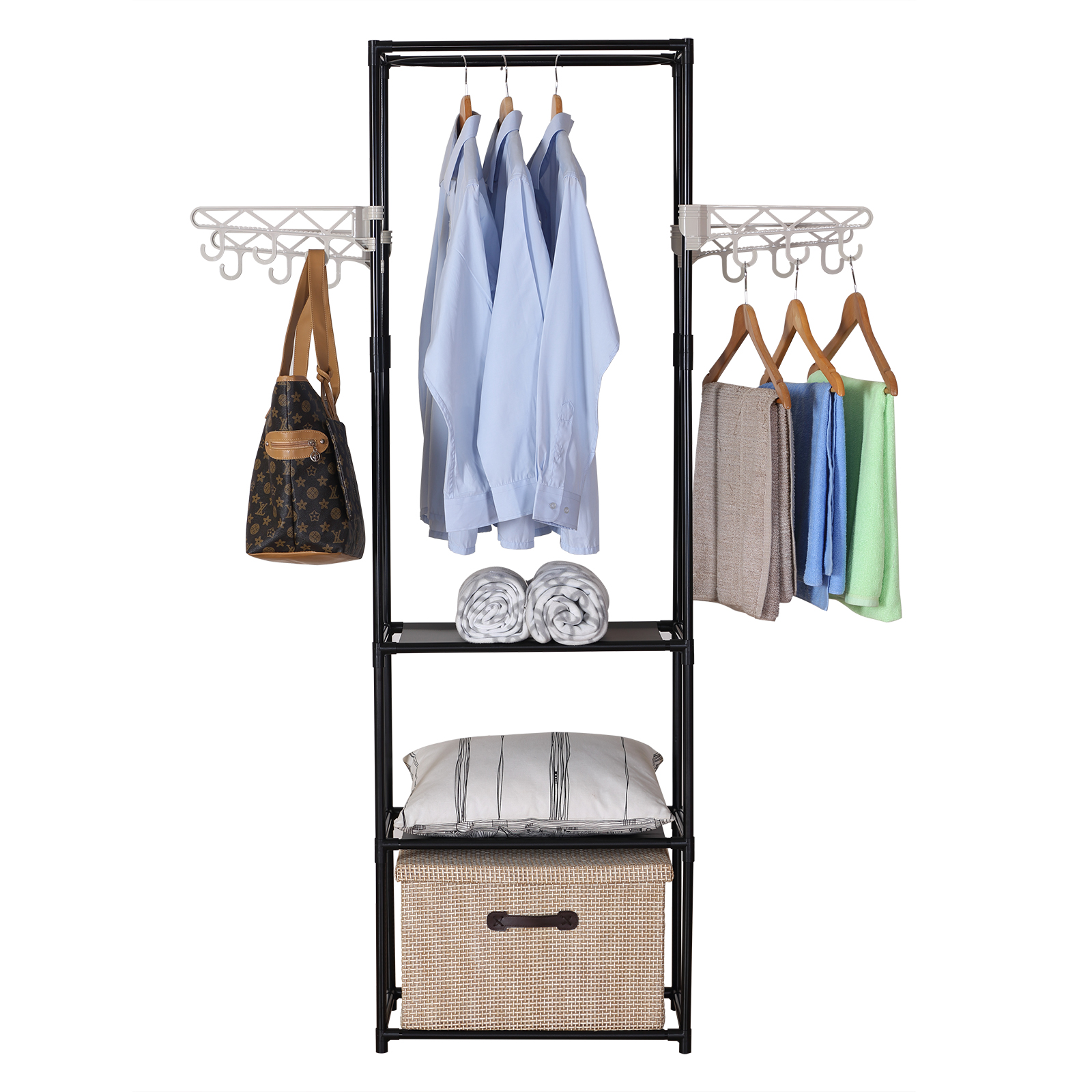 kleiderst nder garderobenst nder mit haken ablagen. Black Bedroom Furniture Sets. Home Design Ideas