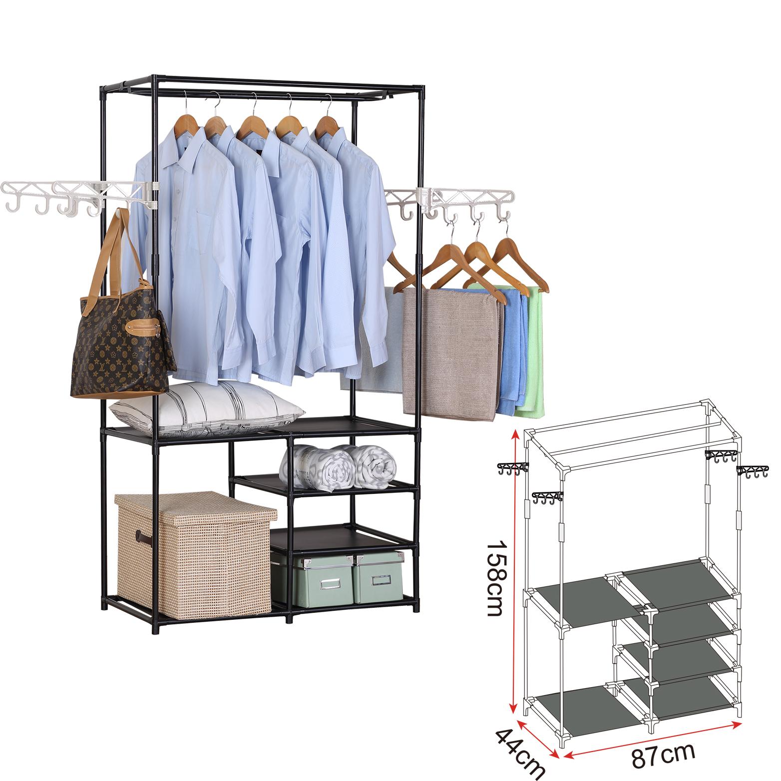 kleiderst nder kleiderstange mit ablage aufbewahrung. Black Bedroom Furniture Sets. Home Design Ideas