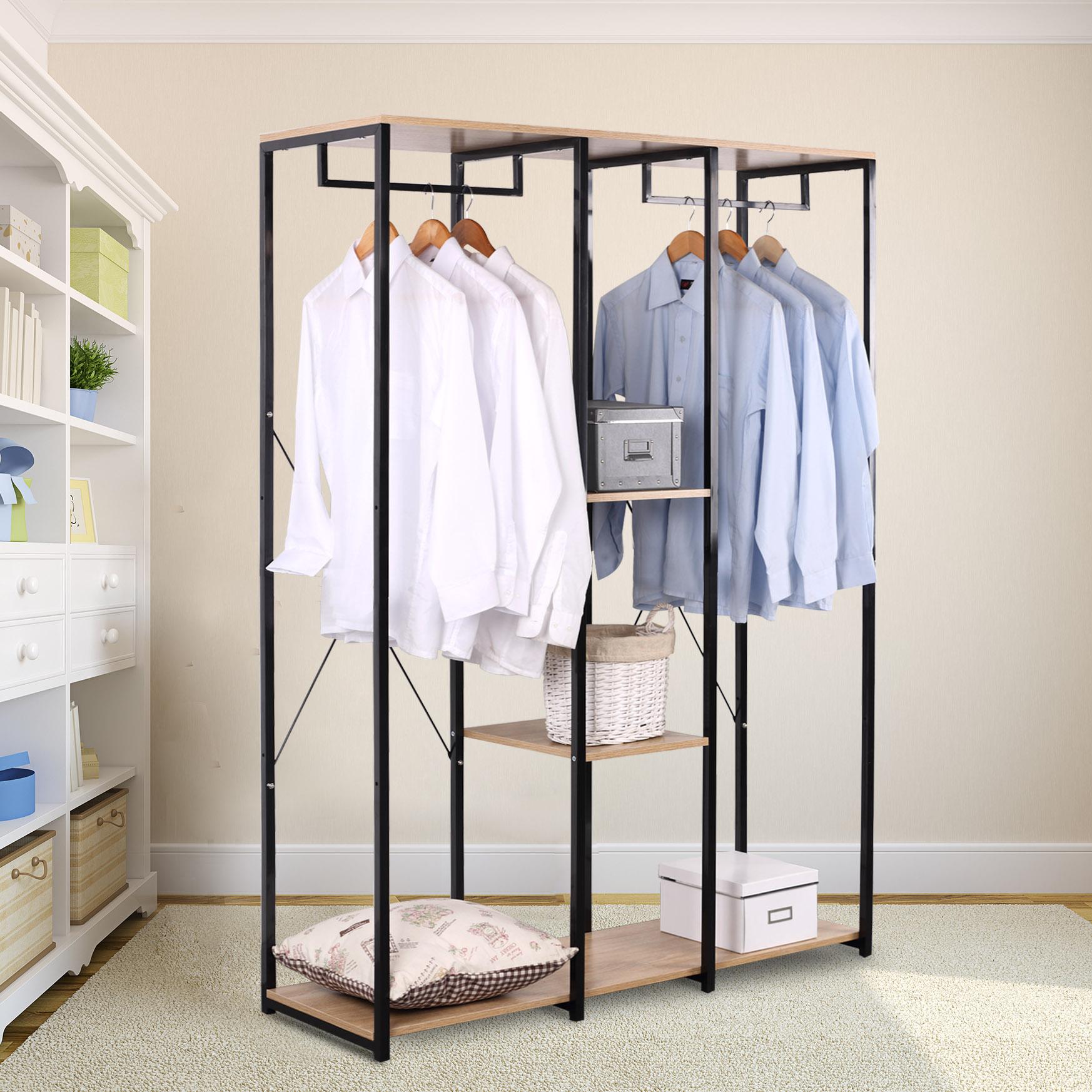 xxxl kleiderst nder w schest nder kleiderschrank mit ablage schuhregal sr0048hei ebay. Black Bedroom Furniture Sets. Home Design Ideas