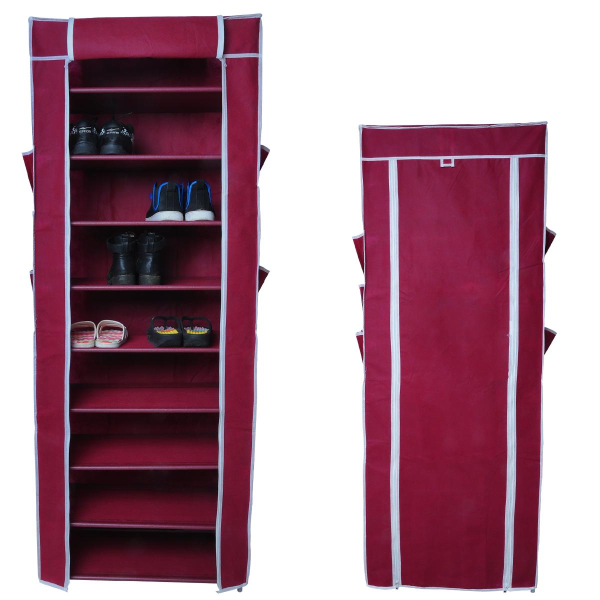 schuhschrank faltschrank 10 schicht textilschrank schuhst nder stoff regal 68 ebay. Black Bedroom Furniture Sets. Home Design Ideas