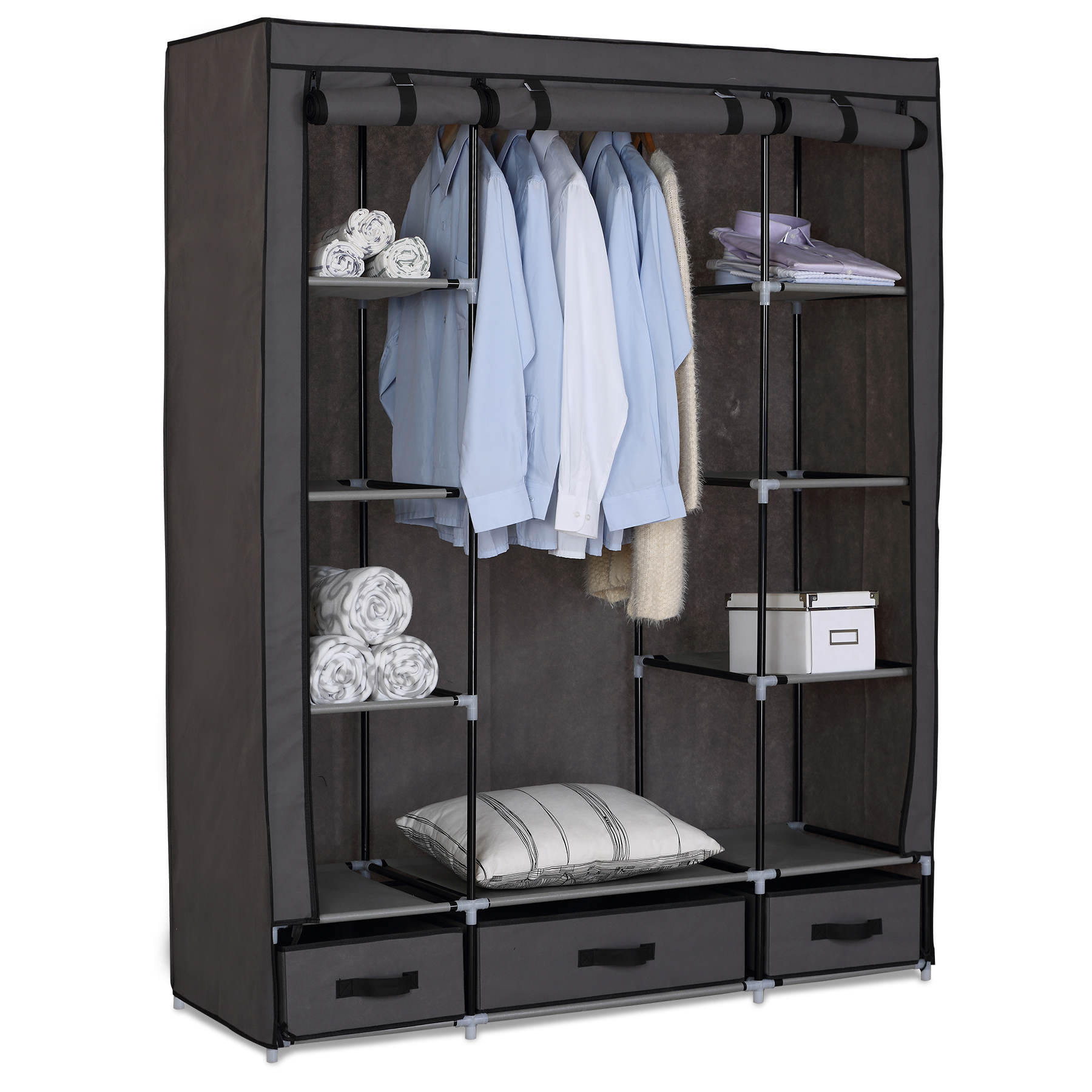 kleiderschrank garderobenschrank campingschrank. Black Bedroom Furniture Sets. Home Design Ideas